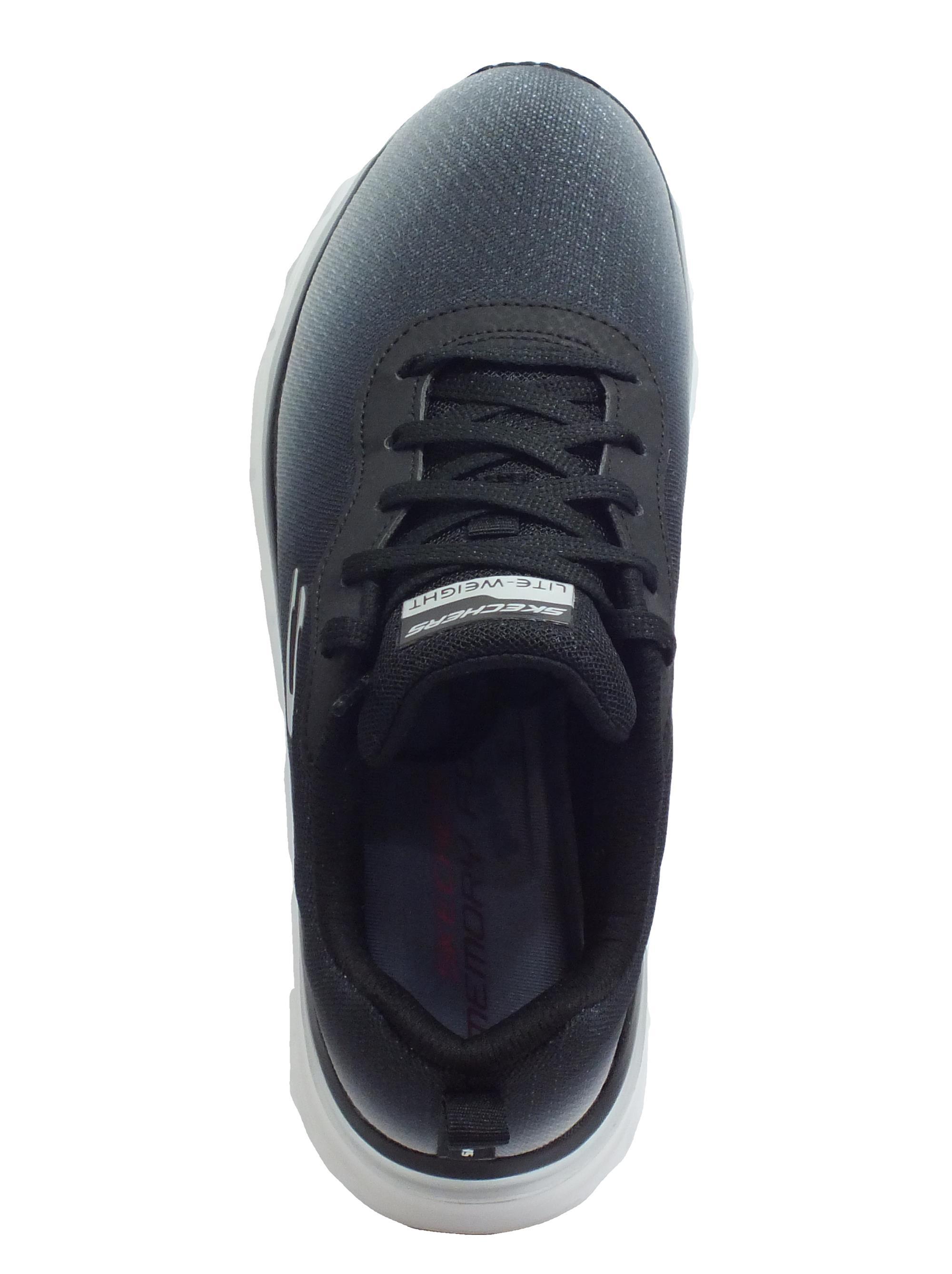 Skechers 12717BKW Fashion Fit Build Up Black White Scarpe