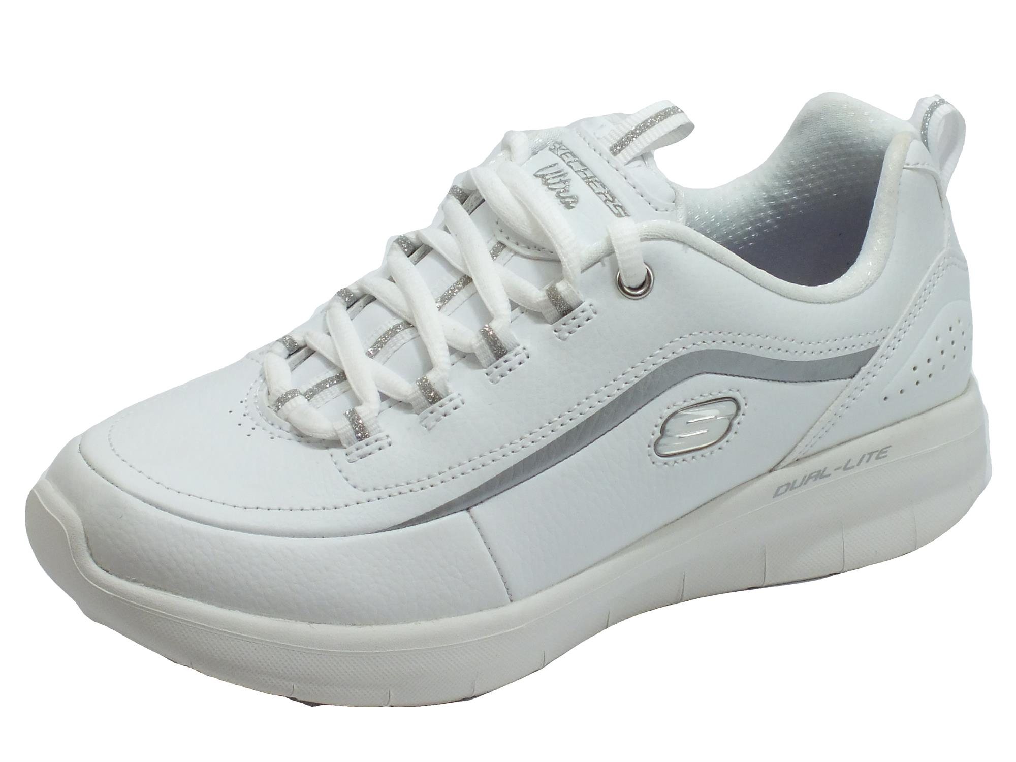 SKECHERS SYNERGY 2.0 12933 WSL scarpe donna sportive ginnastica sneakers bianco