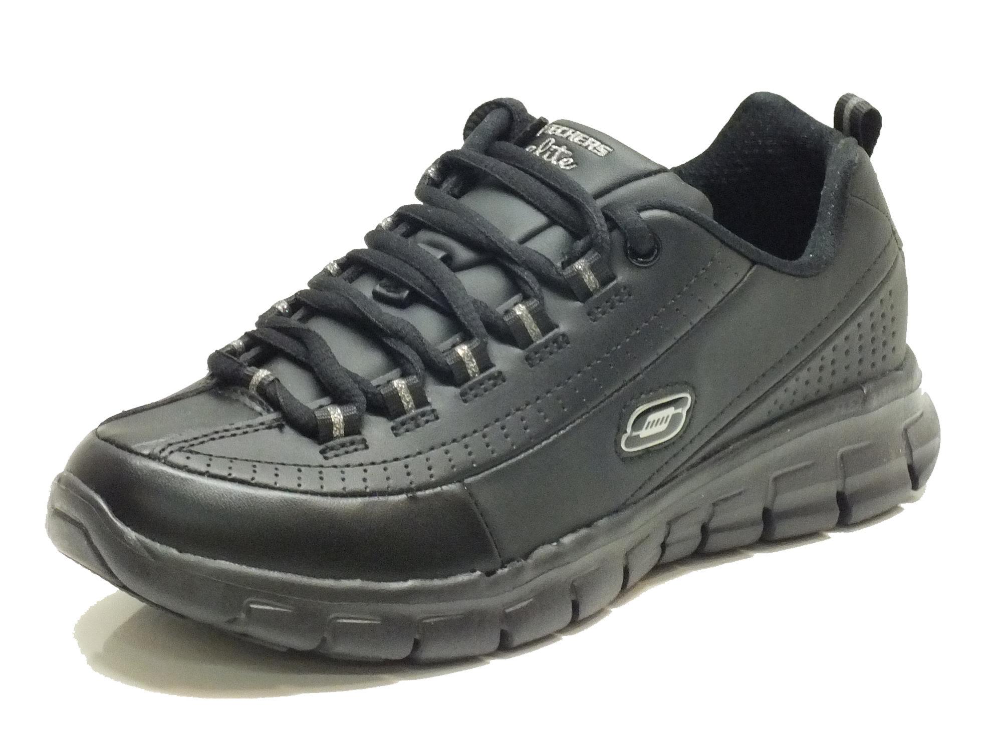 Scarpe Skechers Sport per donna in pelle nera