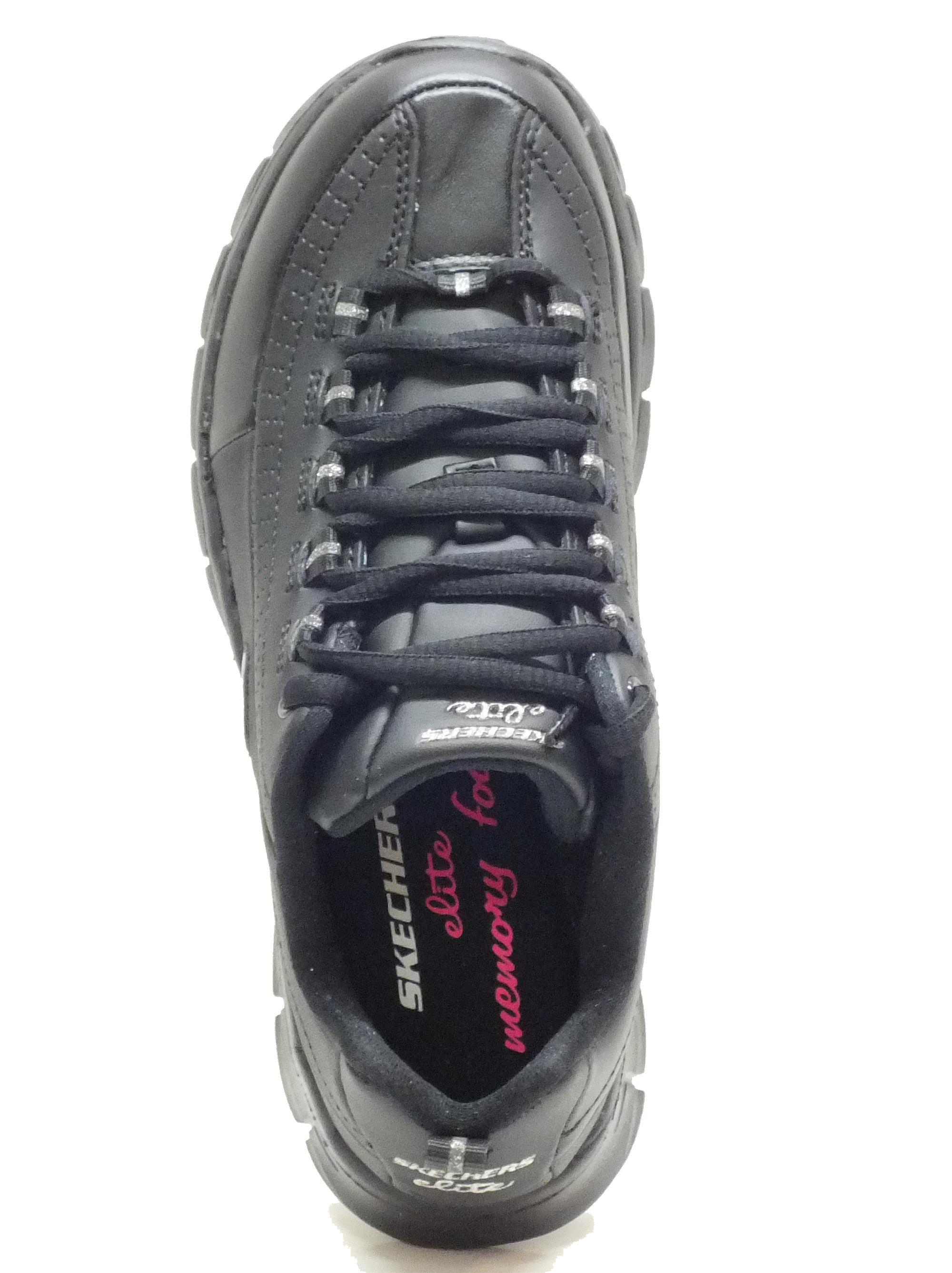 5dec8ecd0e2d Scarpe Skechers Sport donna pelle nera - Vitiello Calzature