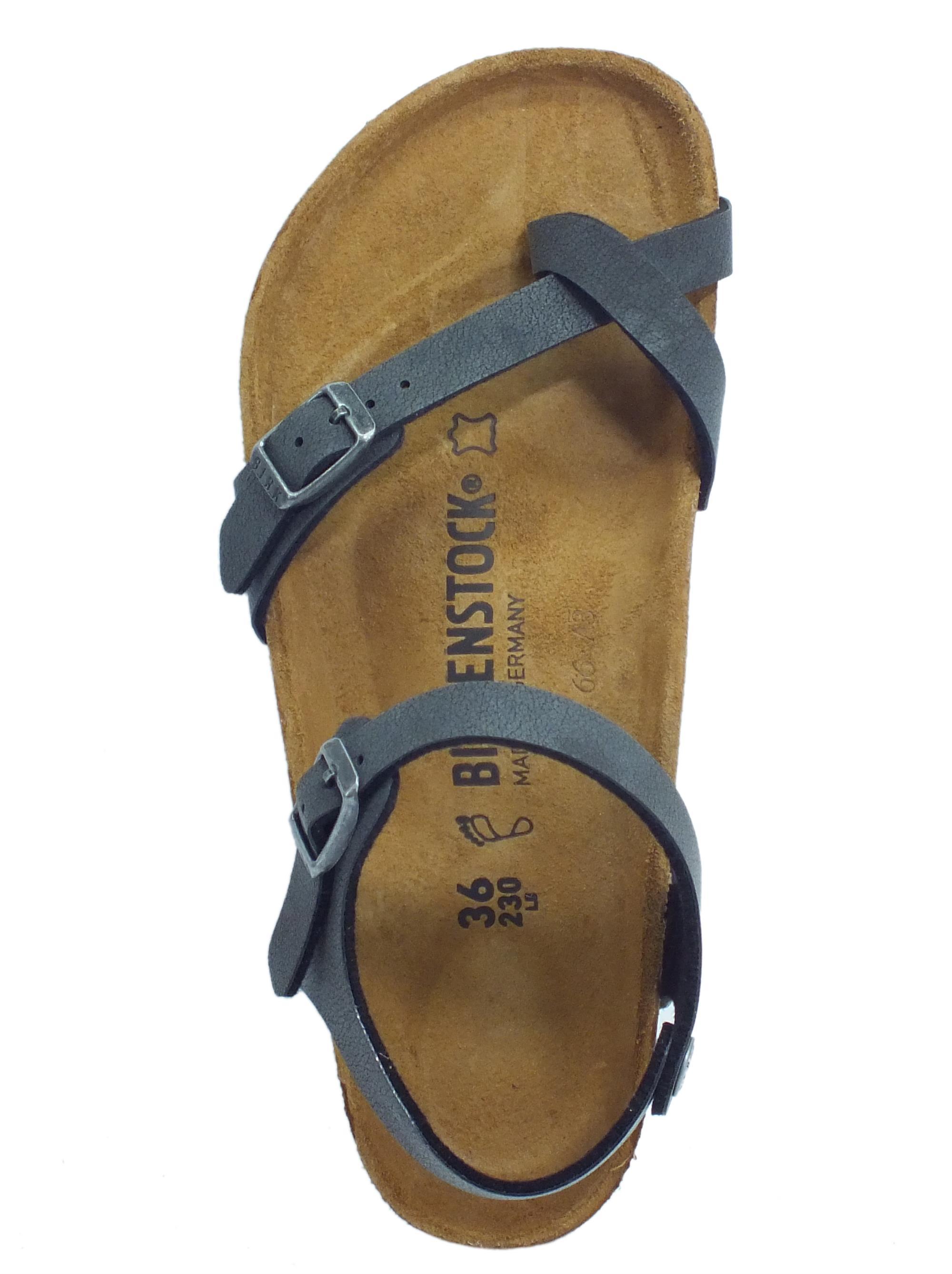 Sandali Birkenstock donna nabuk nero - Vitiello Calzature c3e99afe87d