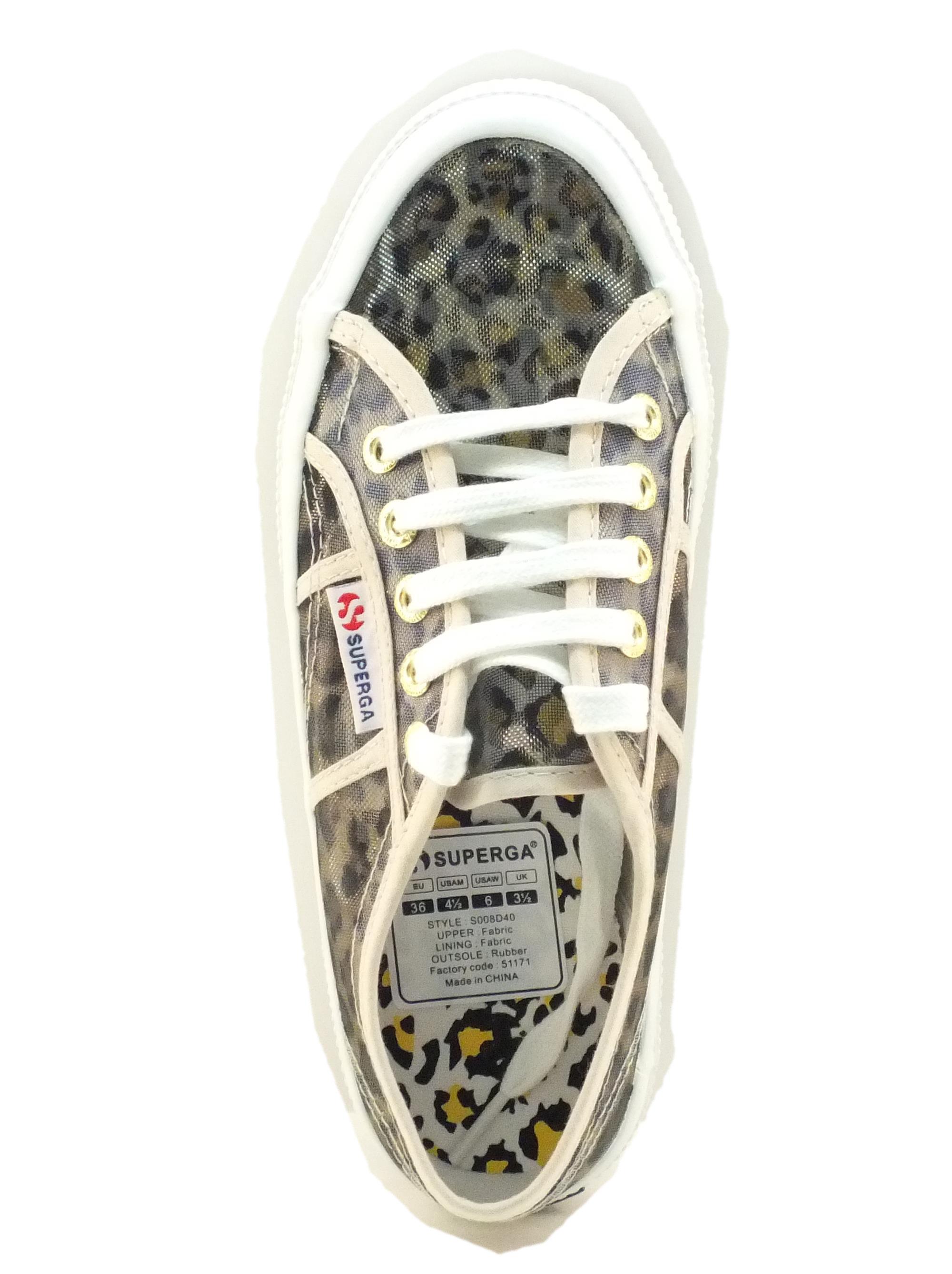 big sale ef899 2b346 Scarpe Superga modello classico in rete leopardata