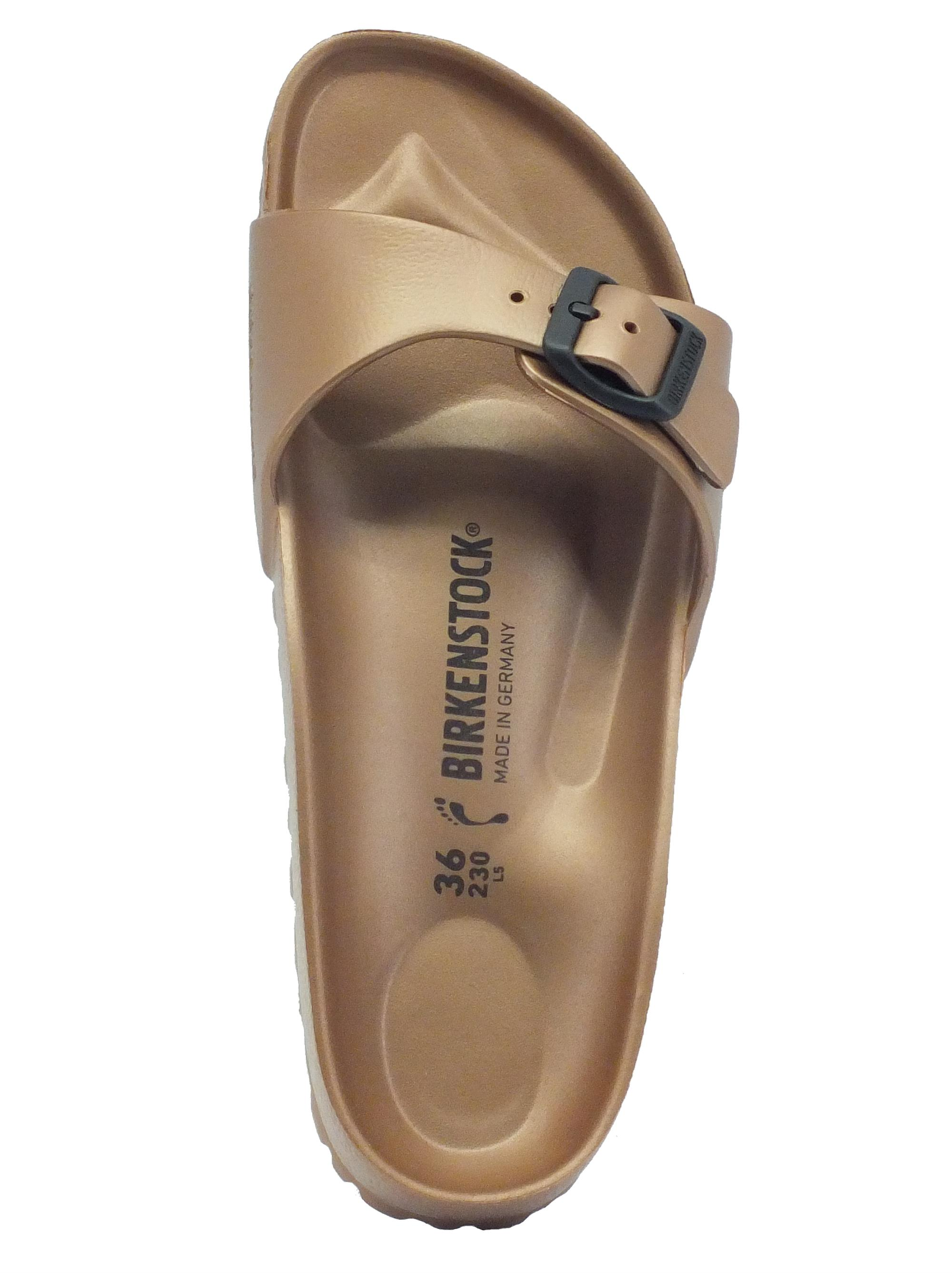 Ciabatte Birkenstock donna gomma bronzo fibbia regolabile - Vitiello ... c0dcd34b5d5