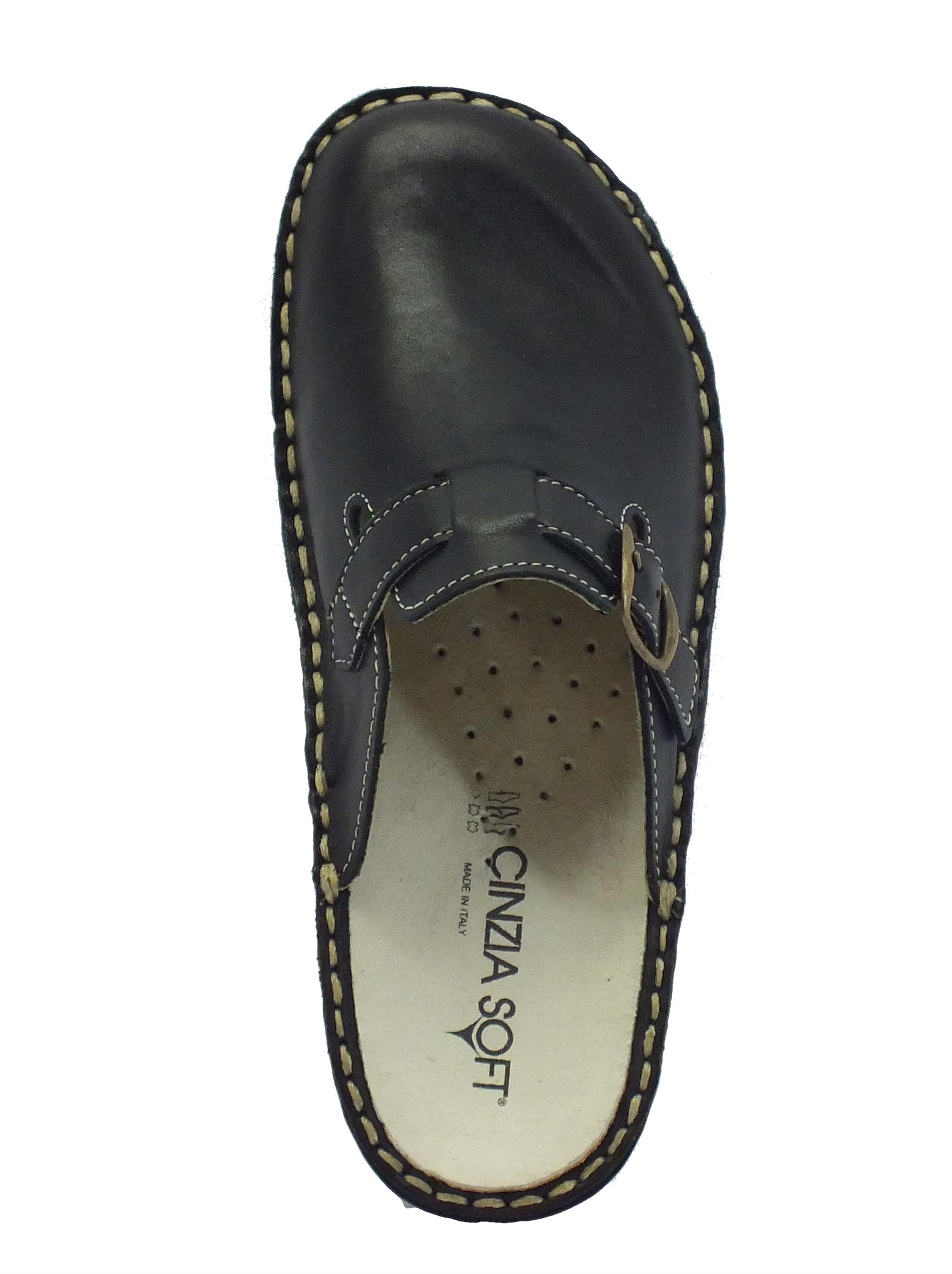 Pelle Donna Sottopiede Calzature Nera Soft Pantofole Cinzia Vitiello n8kNOP0wX