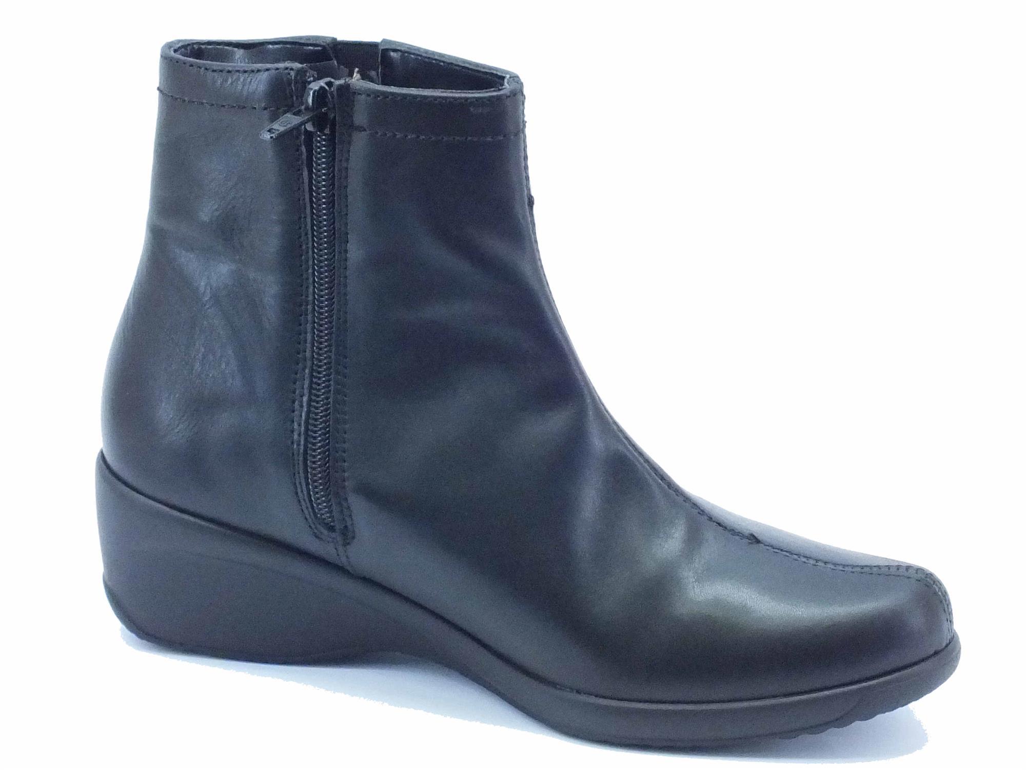 Tronchetti Cinzia Soft pelle nera lampo - Vitiello Calzature 3d450428720