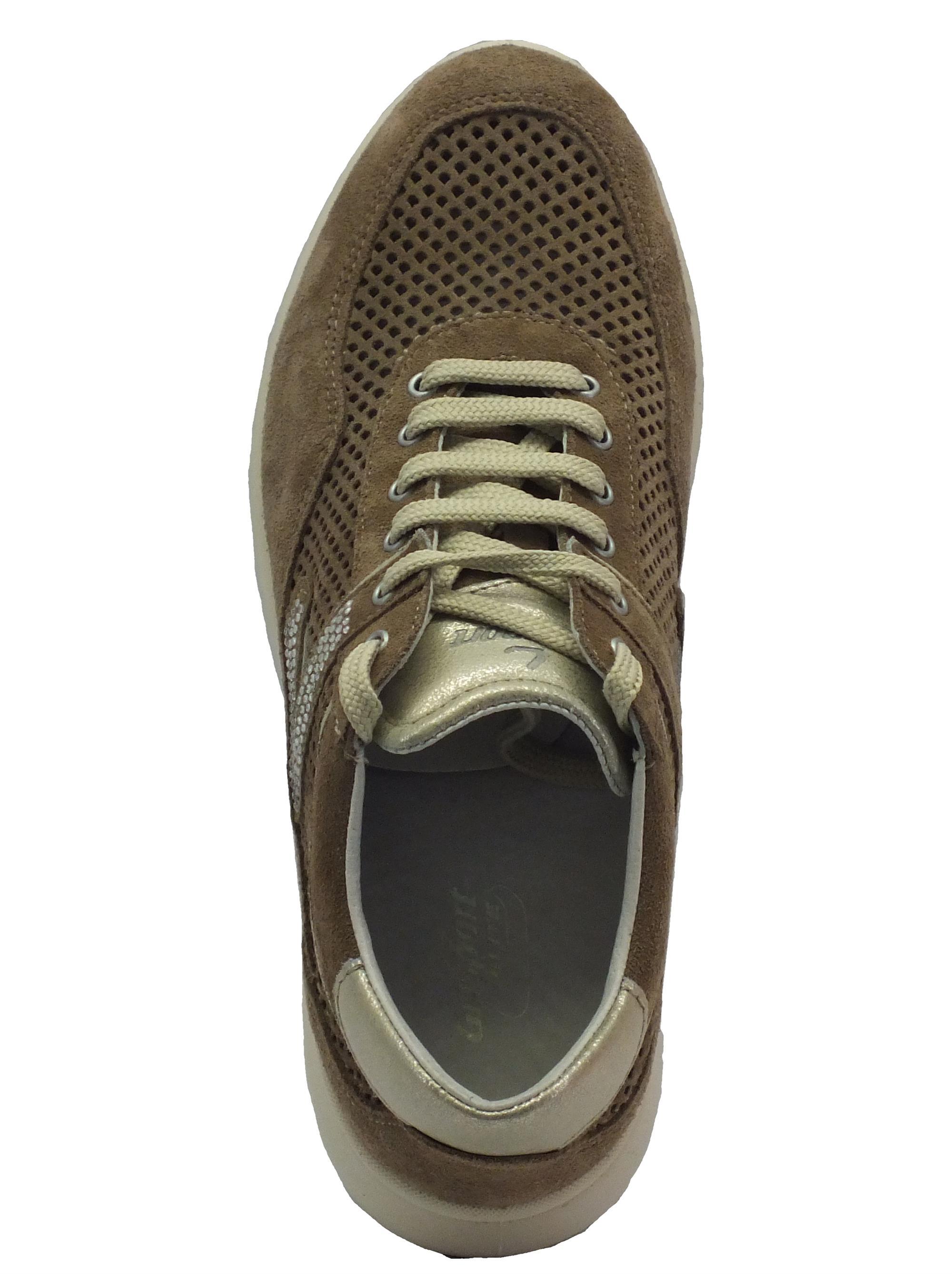 Sneakers Grisport Elite donna camoscio traforato tortora - Vitiello ... 3a90dc834bc