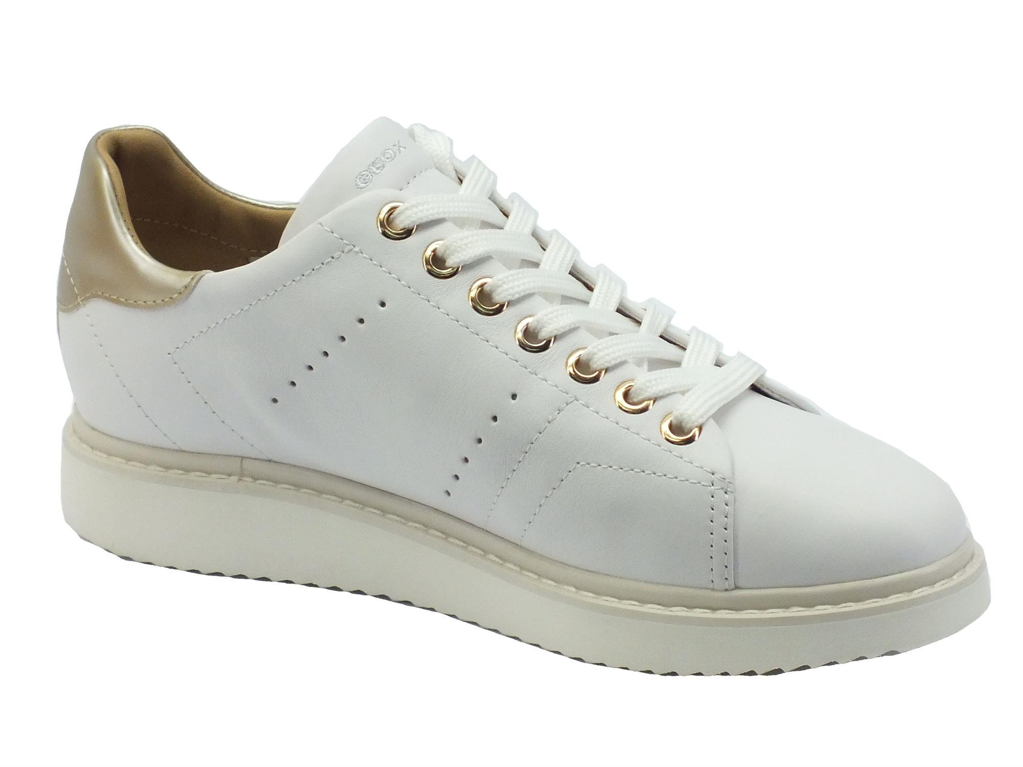 GEOX donna sneakers nere in vera pelle 36.