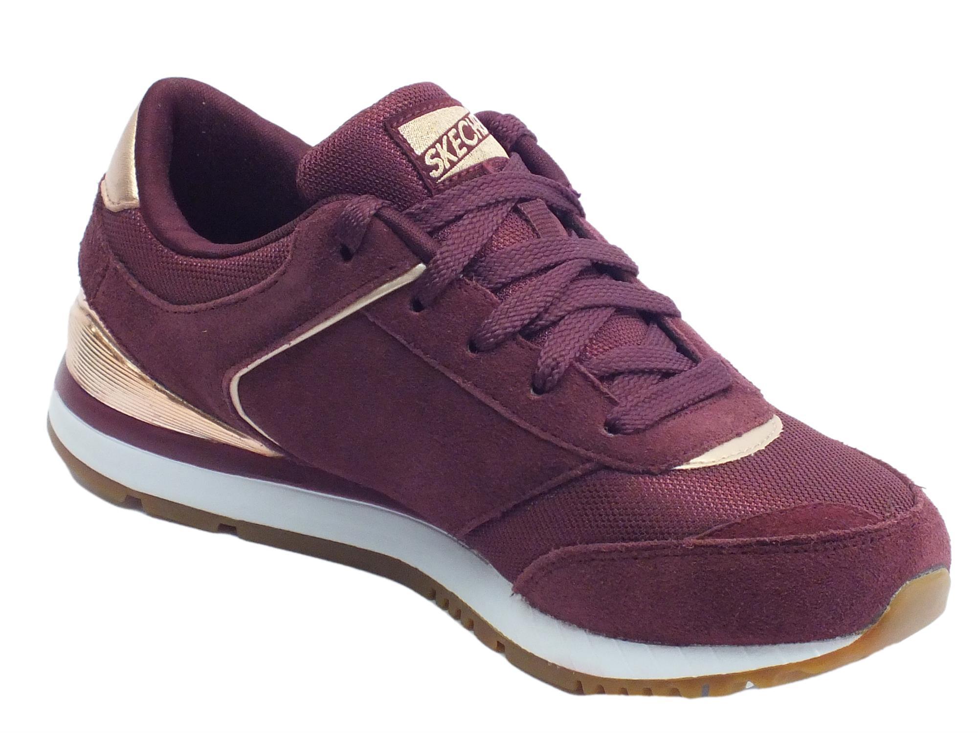 Donna Skechers Sportive Scarpe Camoscio Tessuto Vitiello Originals 35LRAj4