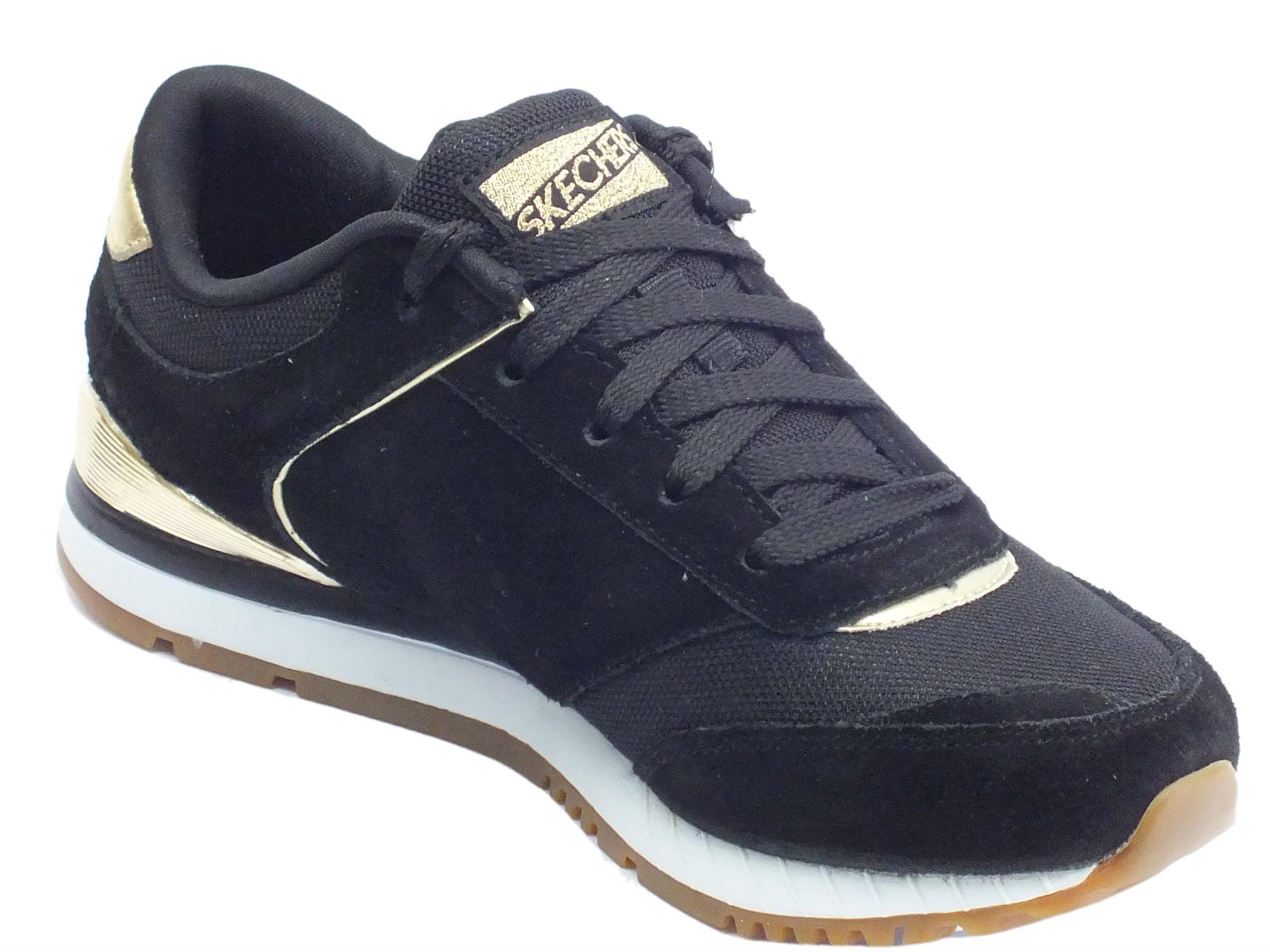 Scarpe sportive donna Skechers Originals tessuto camoscio