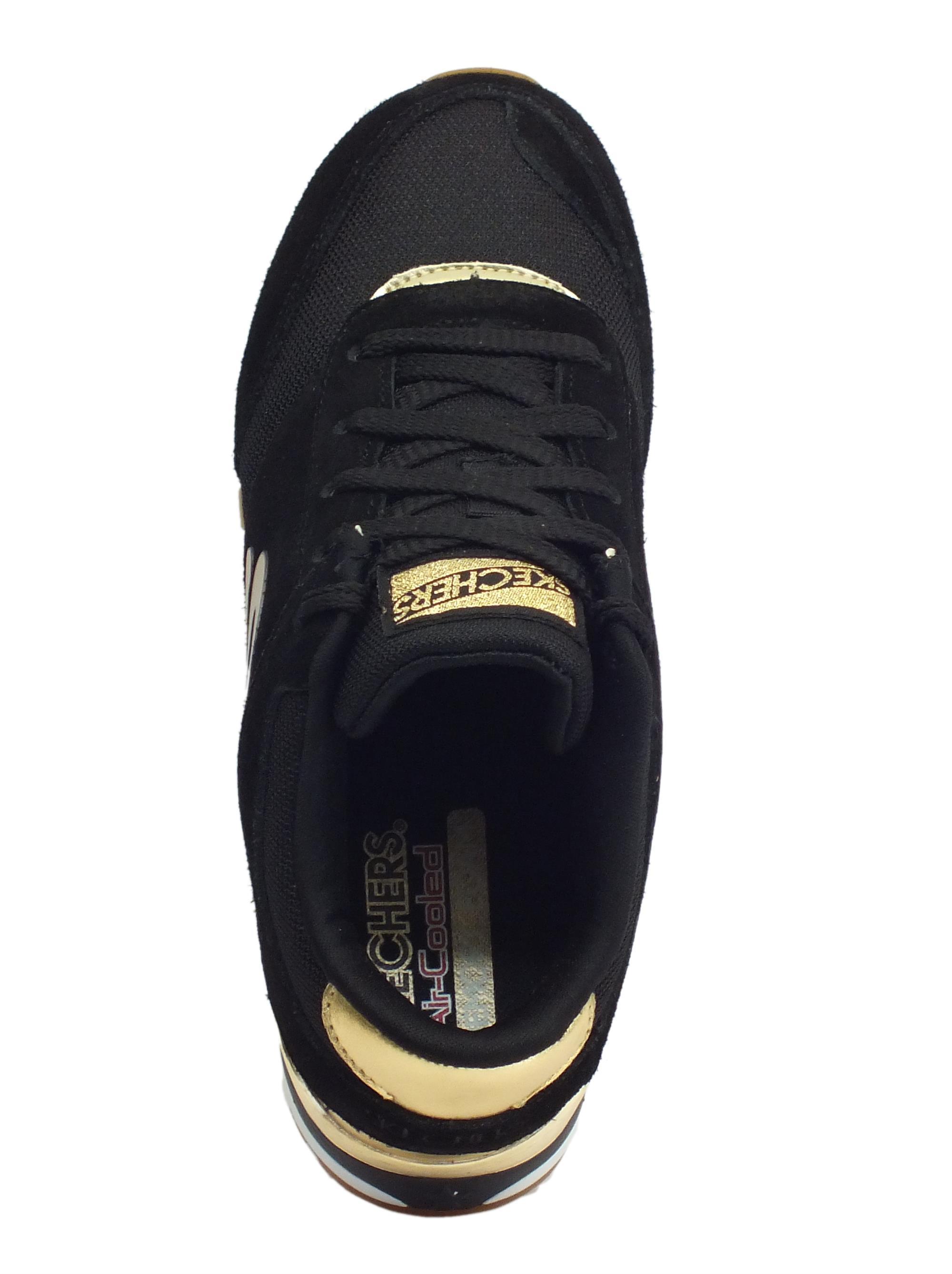 premium selection 59433 85e7e ... Scarpe sportive per donna Skechers Originals in tessuto e camoscio  colore nero
