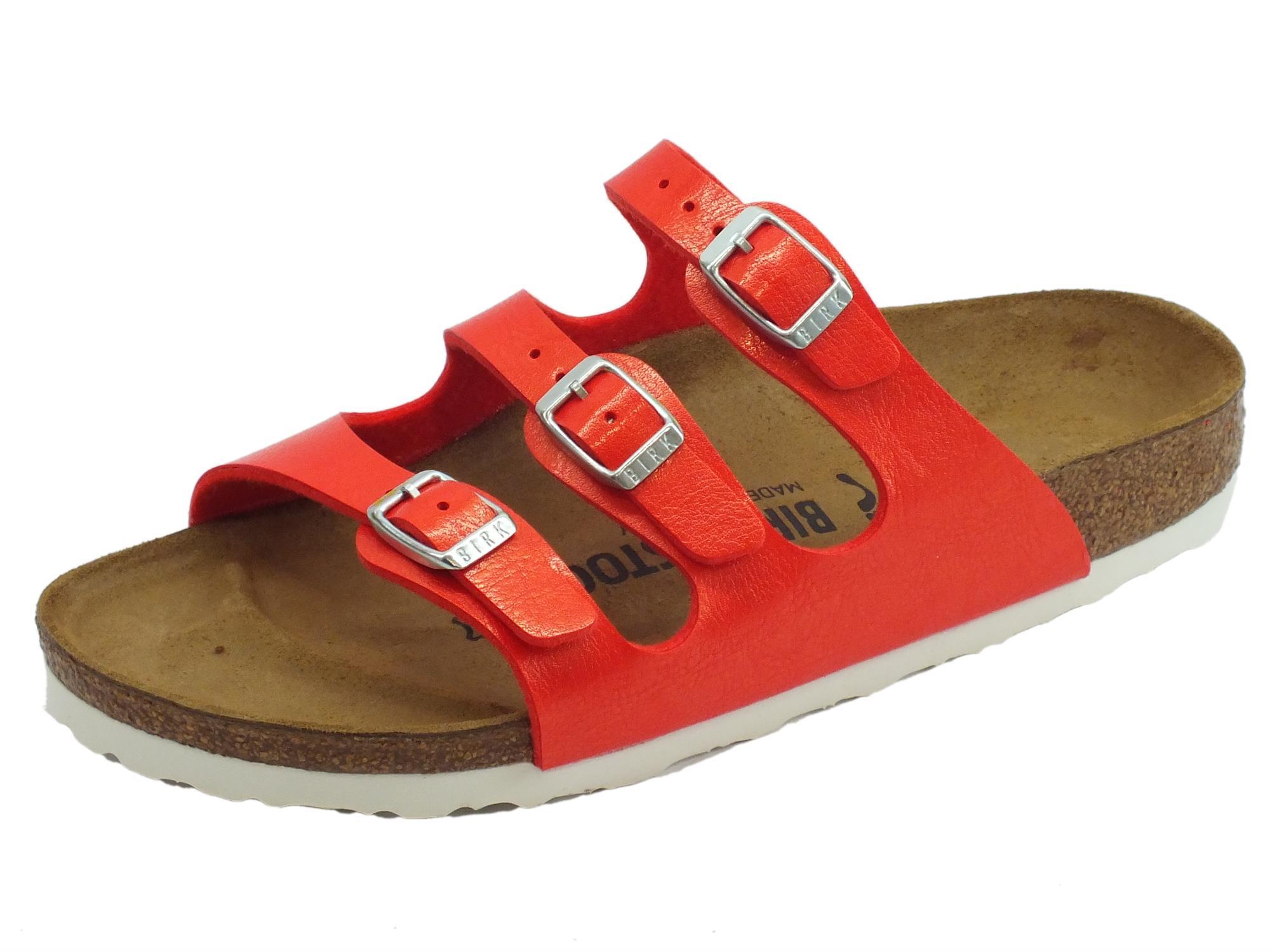 Sandali argentati per donna Birkenstock Florida XQqjPp51KW