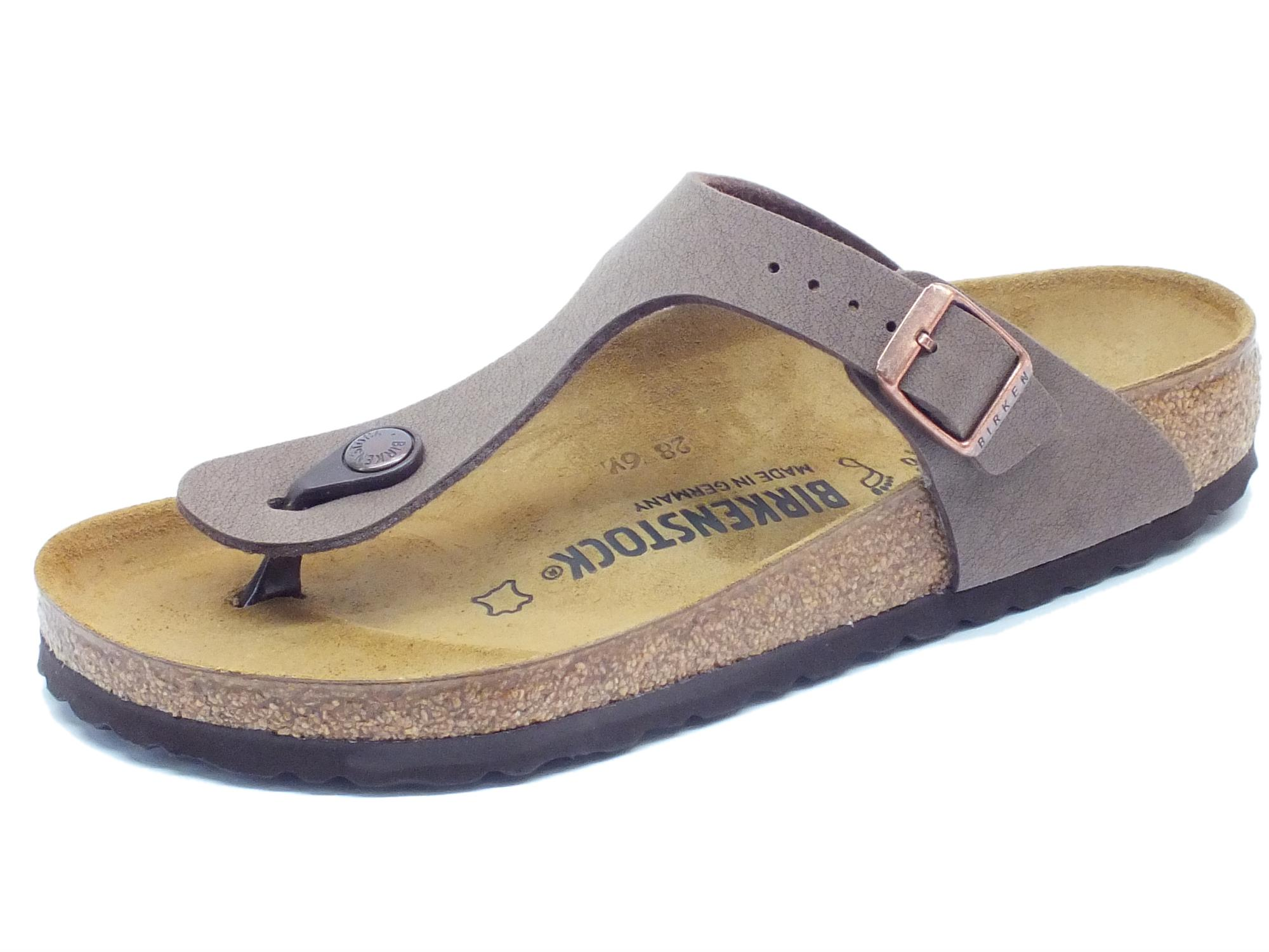 detailed look c9f20 0ecd1 Infradito Birkenstock per donna Gizeh BS colore mocca