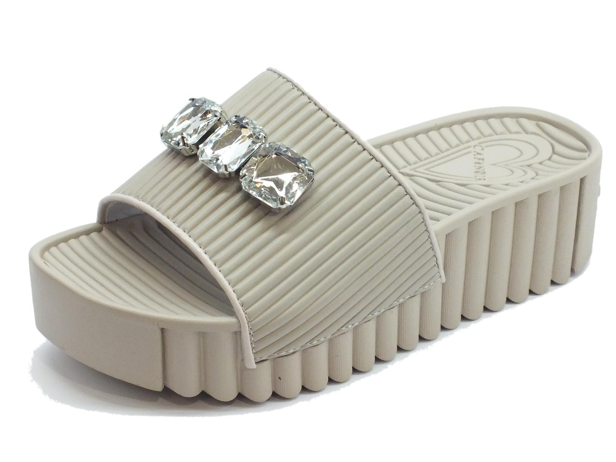 vera qualità fama mondiale promozione Ciabatte CafèNoir donna gomma perla zeppa alta - Vitiello Calzature