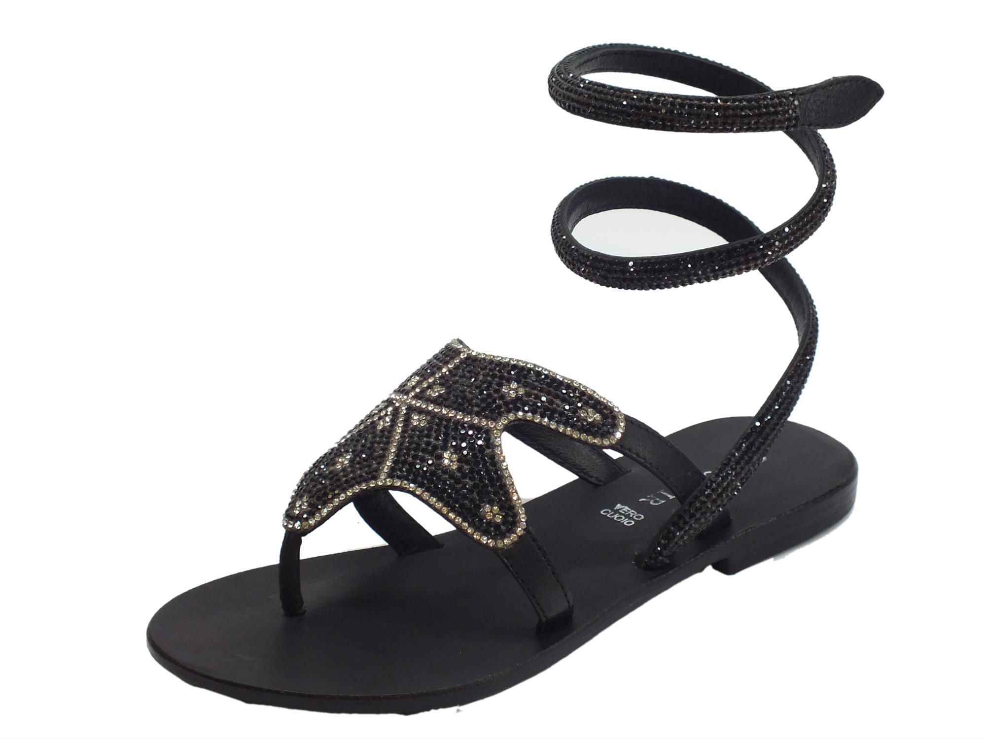 Sandali neri per donna 77GKCOZ9Yg