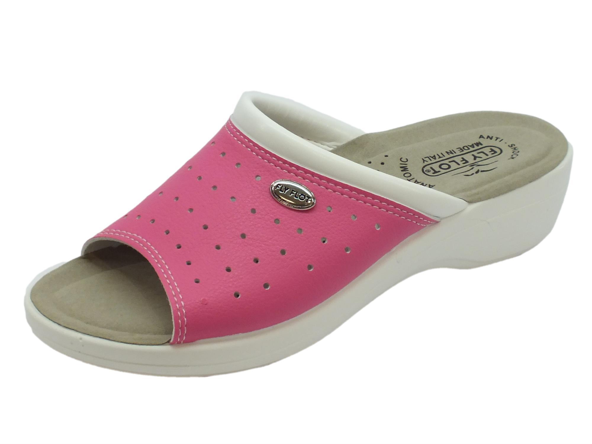 new product 4d7bd 2a291 Ciabatte aperte FlyFlot per donna colore rosa con sottopiede anatomico  anti-shock