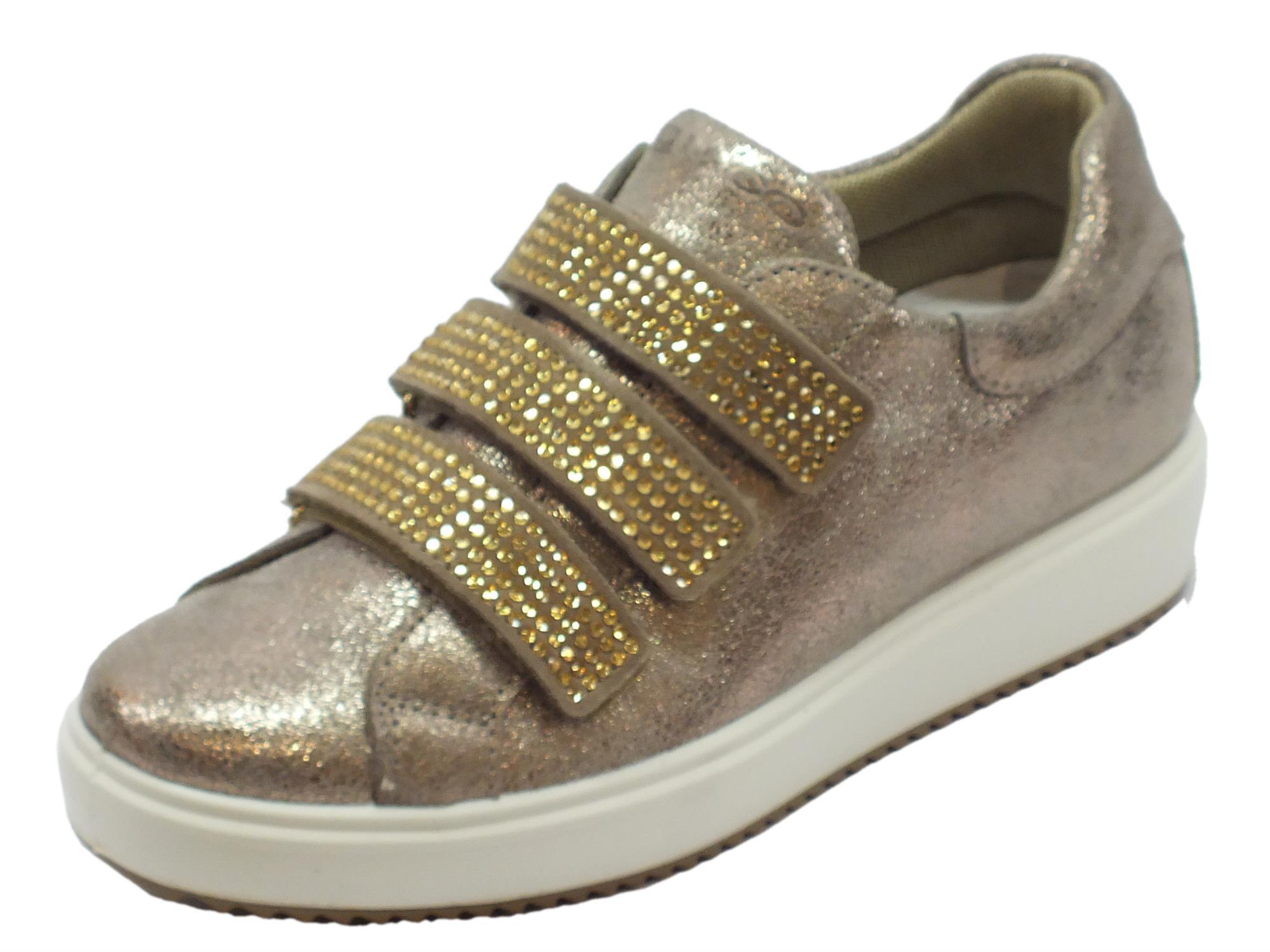 Sneakers Igi Co per donna in pelle scamosciata taupe tripla chiusura strappo f217b4323b5