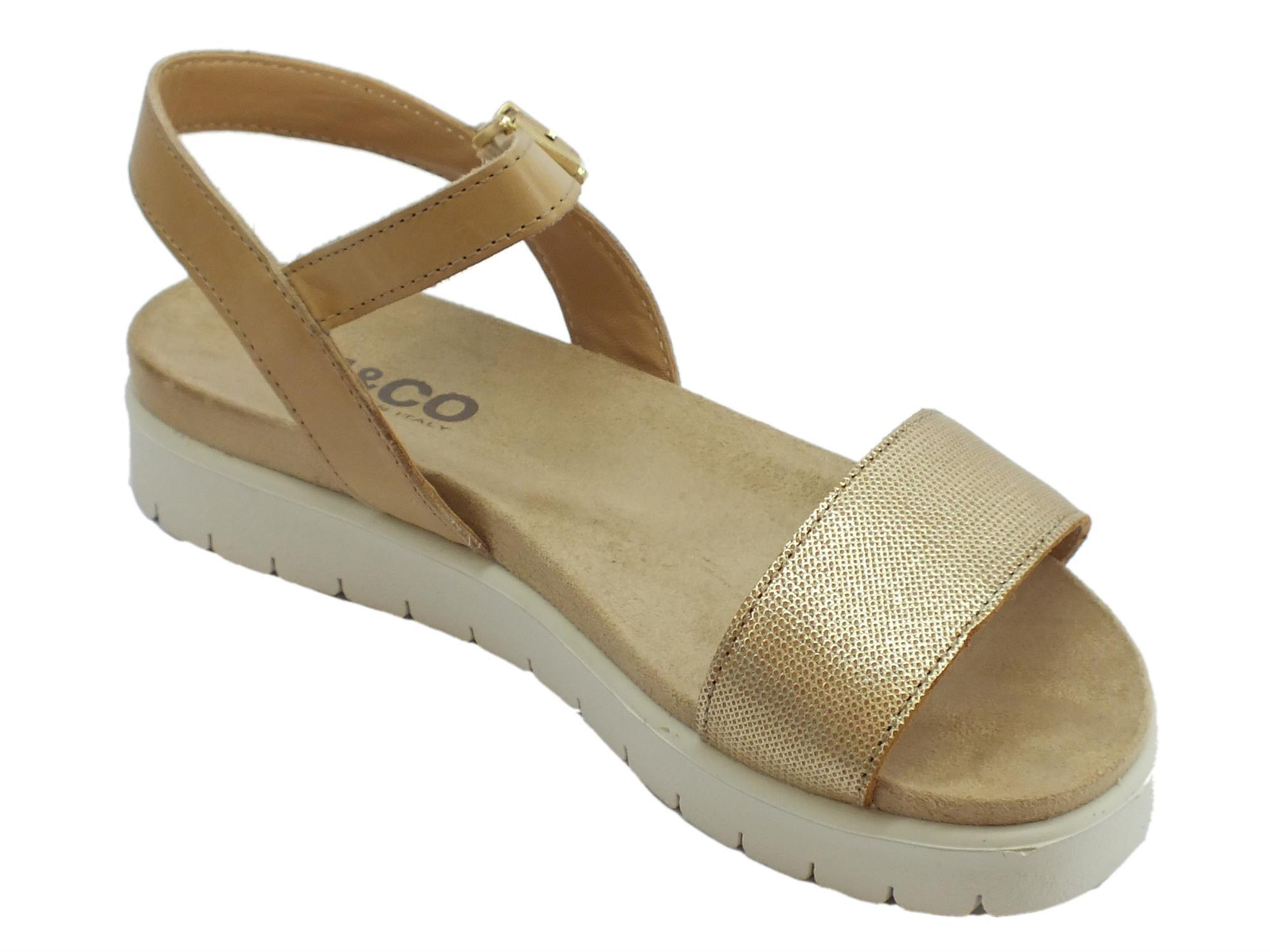 Sandali Igi&Co per donna in pelle beige zeppa bassa