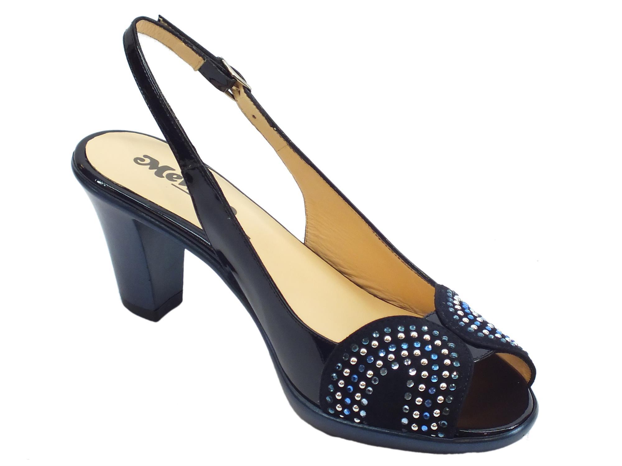 b9ecea80a3ca1 Sandali Melluso donna vernice nabuk blu tacco alto - Vitiello Calzature