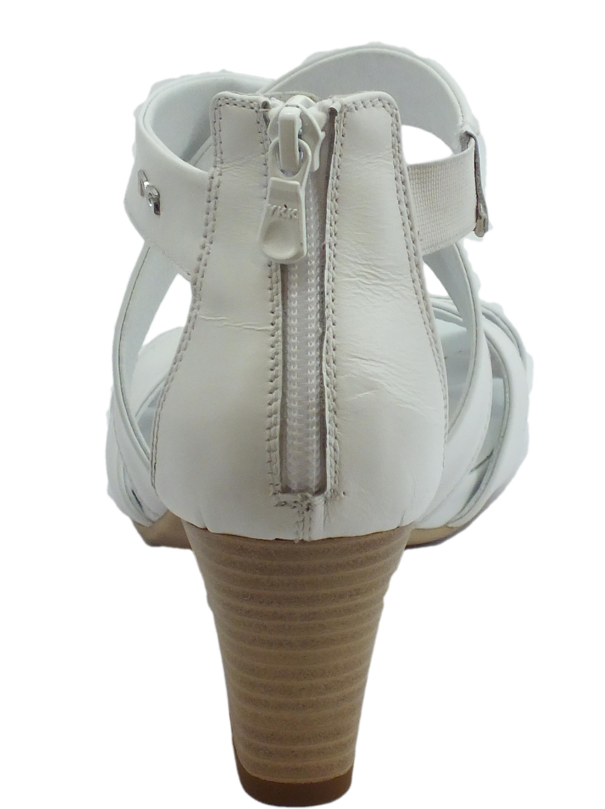 ... Sandali per donna NeroGiardini in pelle colore bianco lampo posteriore 46feb116163
