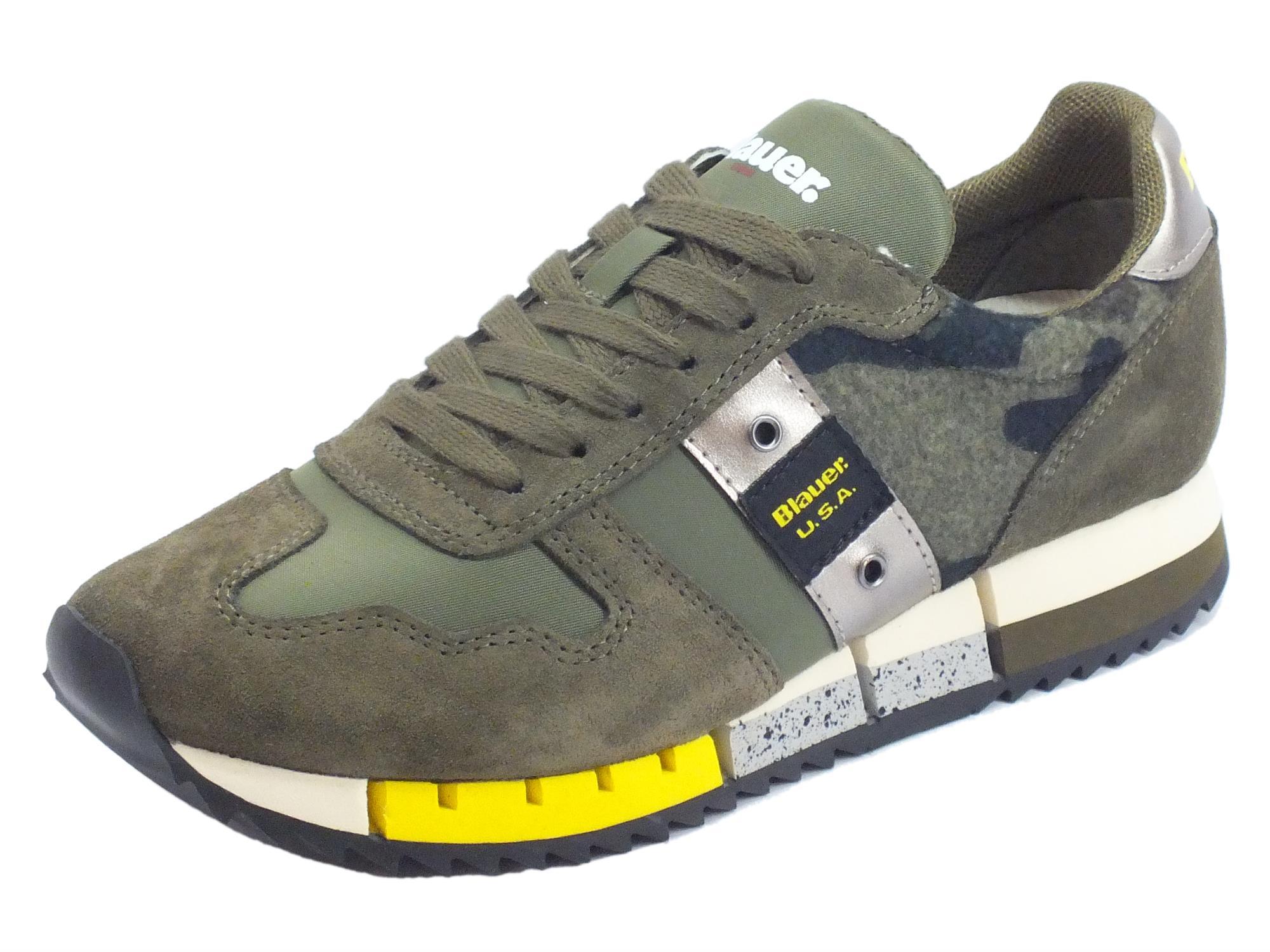Sneakers Vitiello Melrose Usa Donna Verde Tessuto Blauer Camoscio rpqrnSvB
