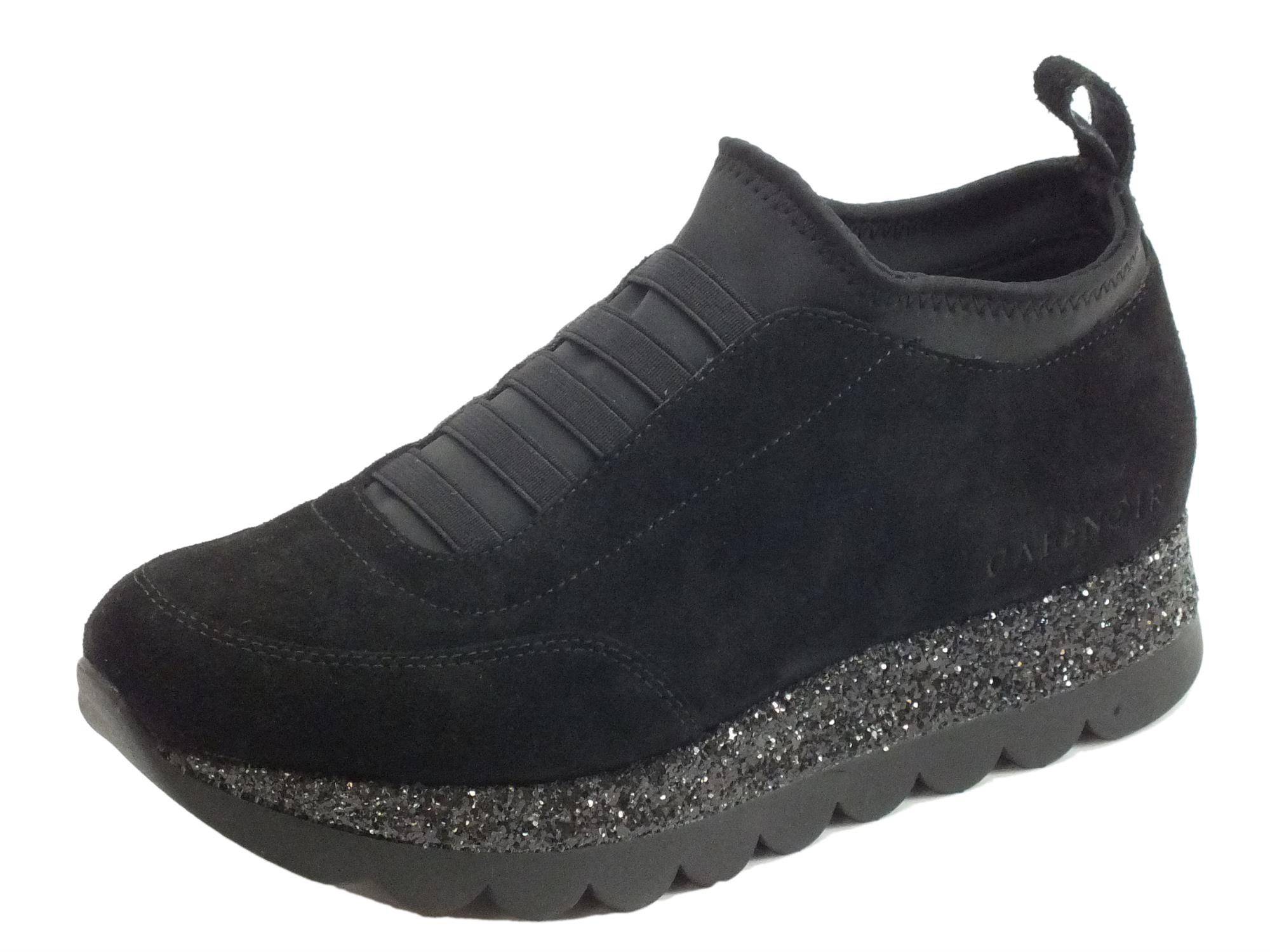 Sneakers donna Cafè Noir camoscio nero calzata veloce - Vitiello ... 062b4bd5b7d