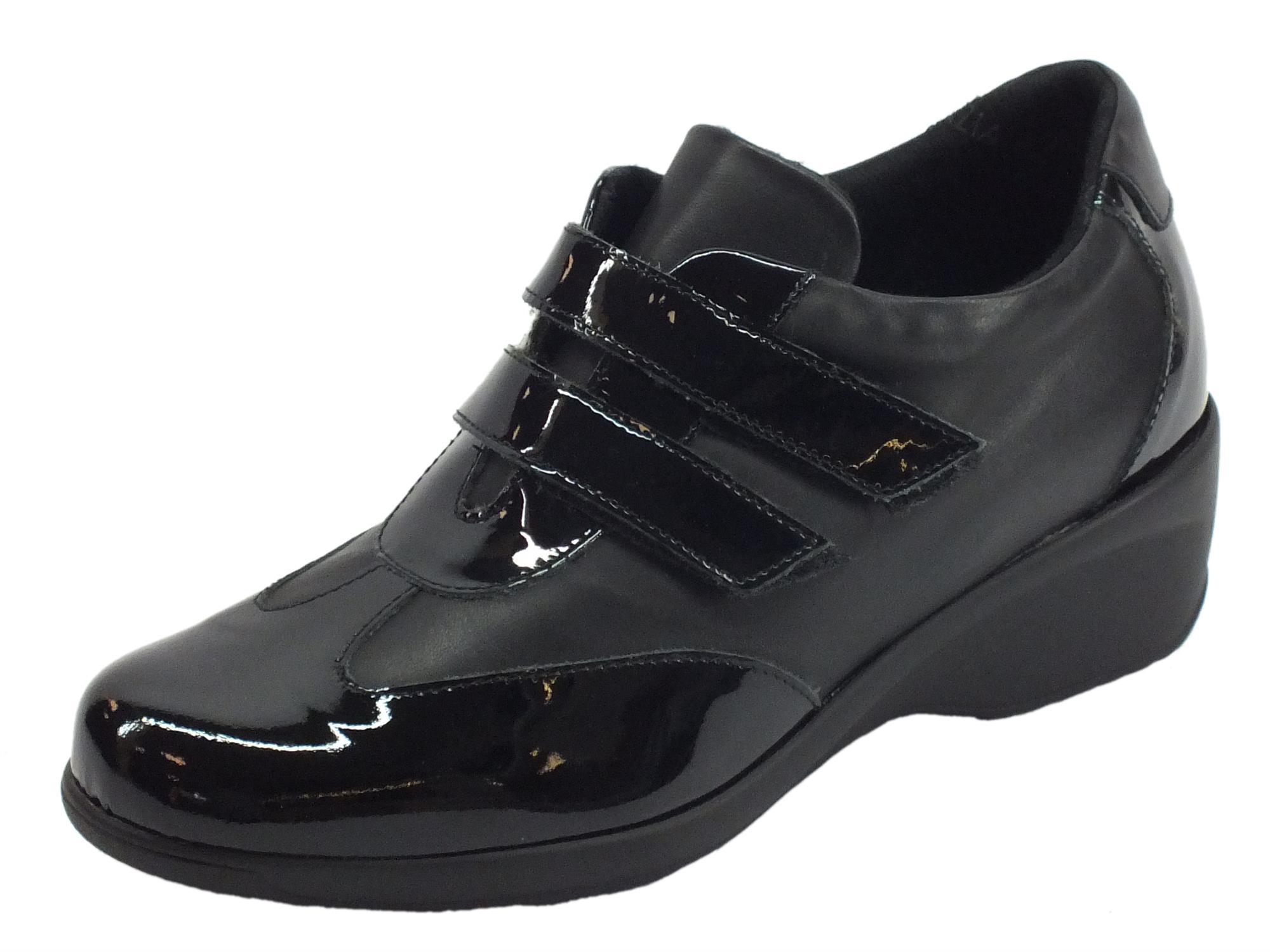 b87bad24c6857 Sneakers Confort Cinzia Soft donna pelle vernice nera - Vitiello ...