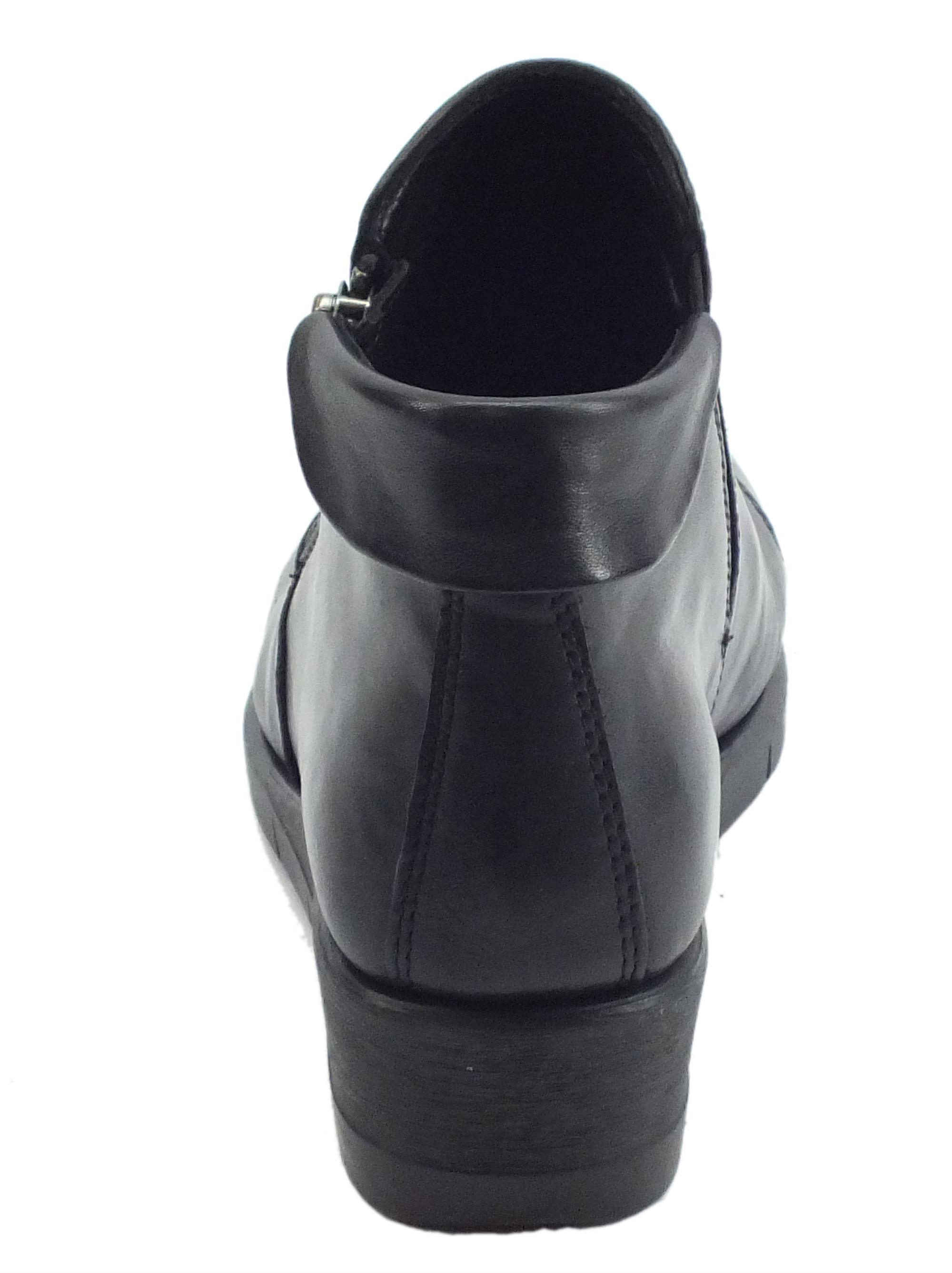 Tronchetti Cinzia Soft pelle nera lampo risvolto - Vitiello Calzature 5b9db6c5959