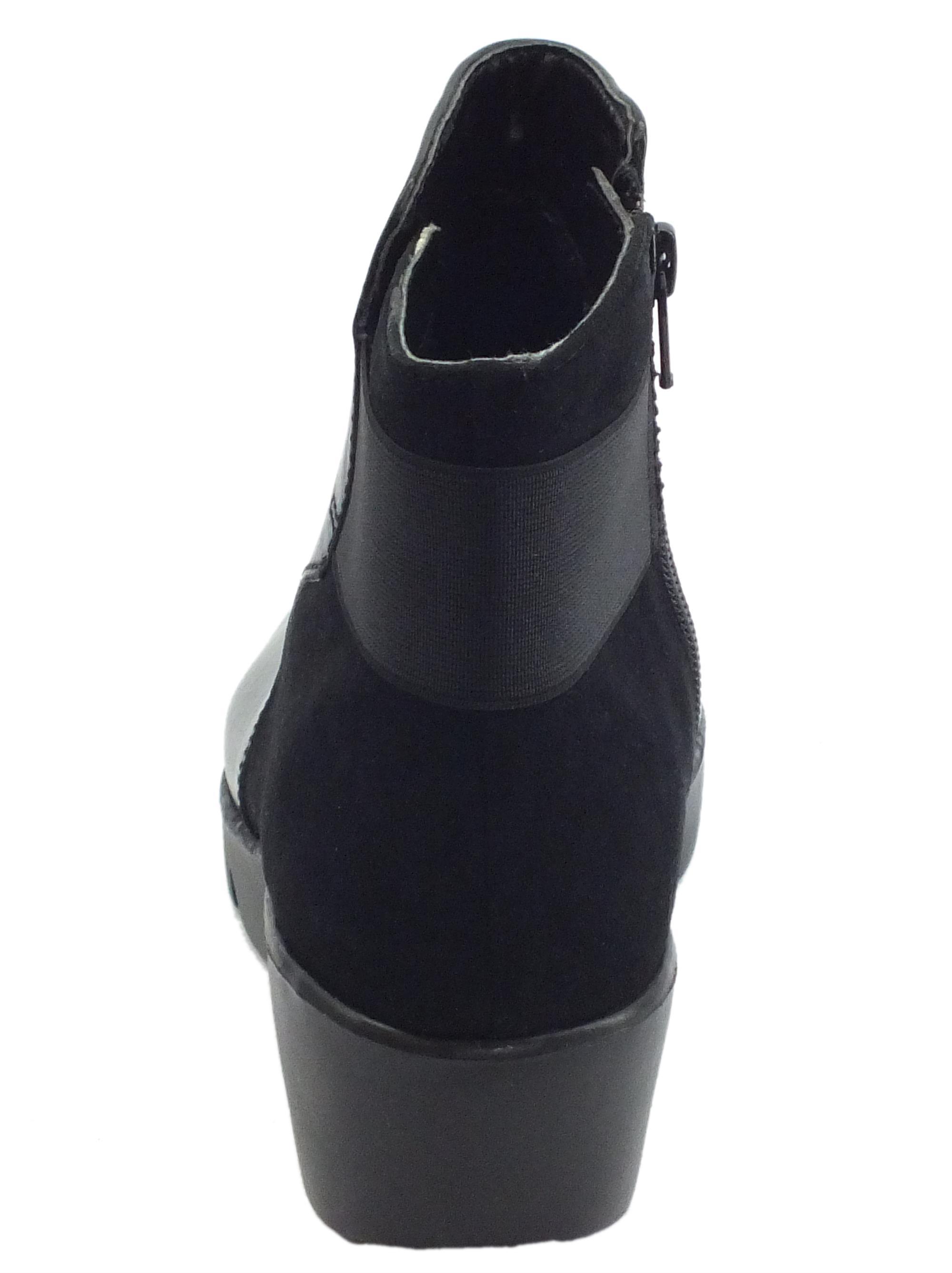 Tronchetti Cinzia Soft pelle camoscio nero lampo - Vitiello Calzature a6cb6caf2d0