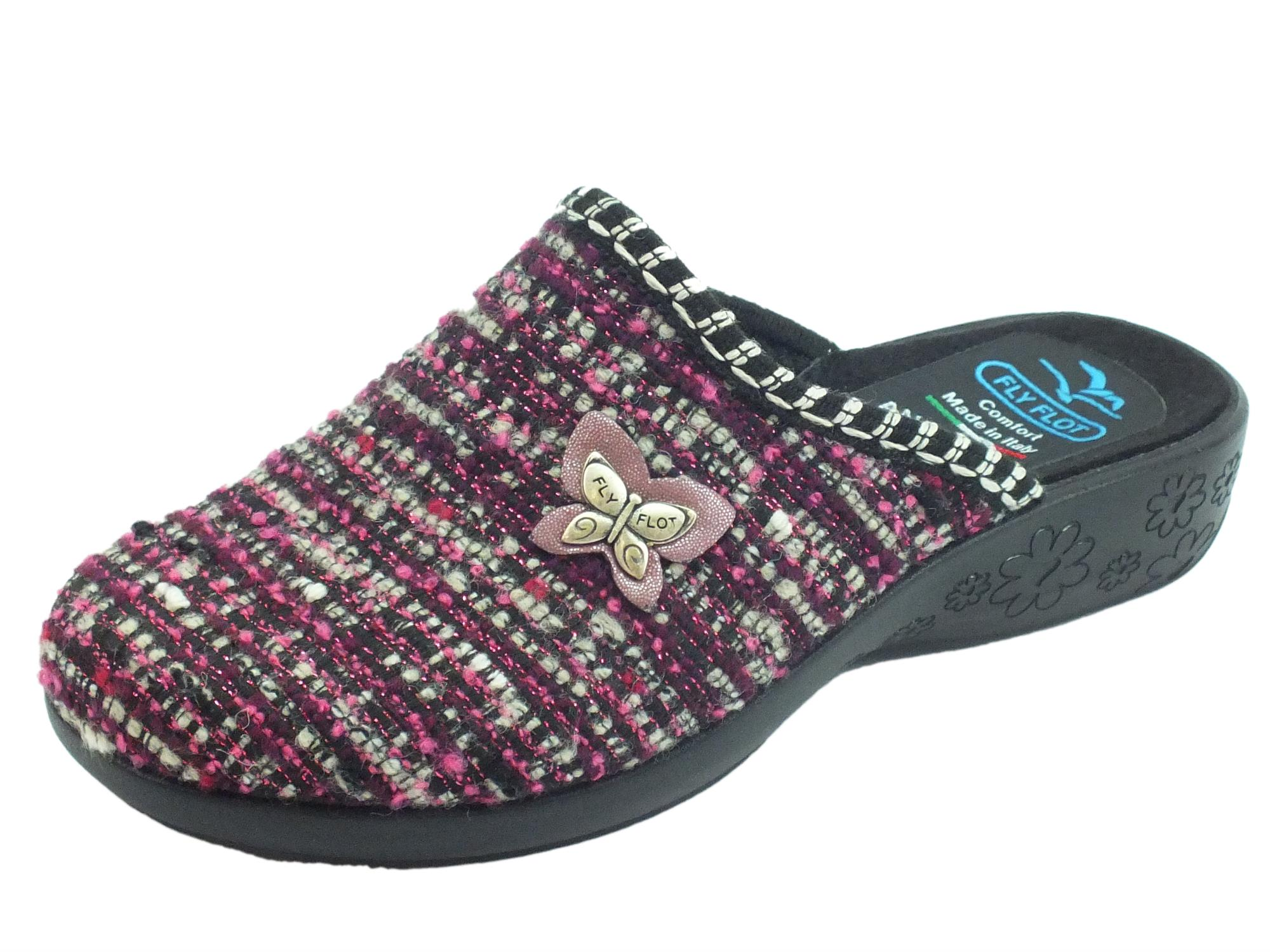 Pantofole FlyFlot donna lana ciclamino - Vitiello Calzature 5c5a68b3896