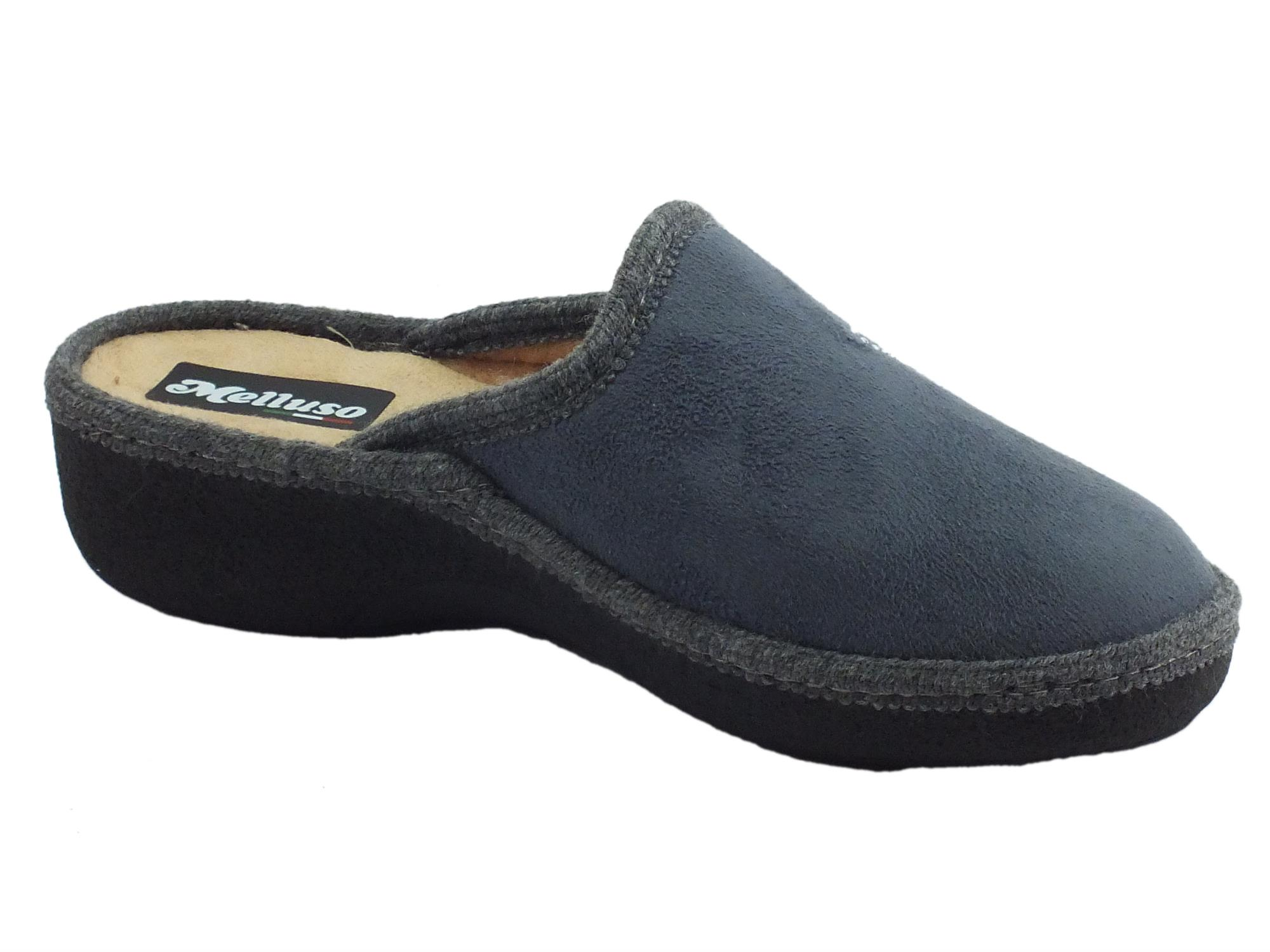 Pantofole Melluso donna tessuto grigio beige - Vitiello Calzature 01eb61e8949