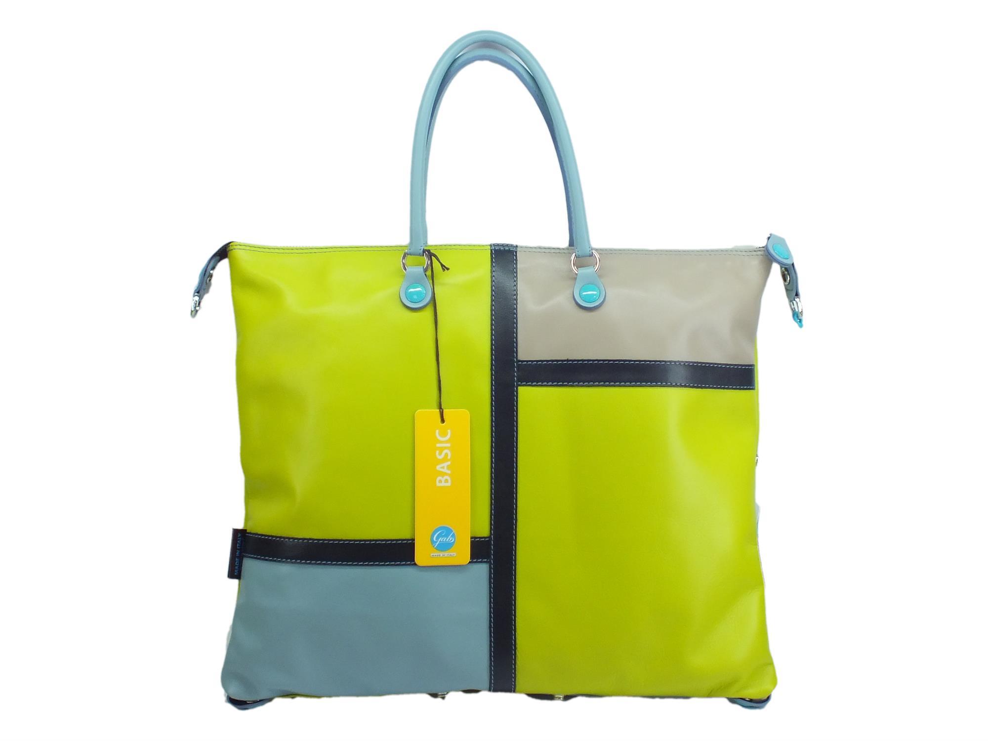 Gabs G3 L Zodiaco Toto borsa con manici e tracollina in pelle taglia large