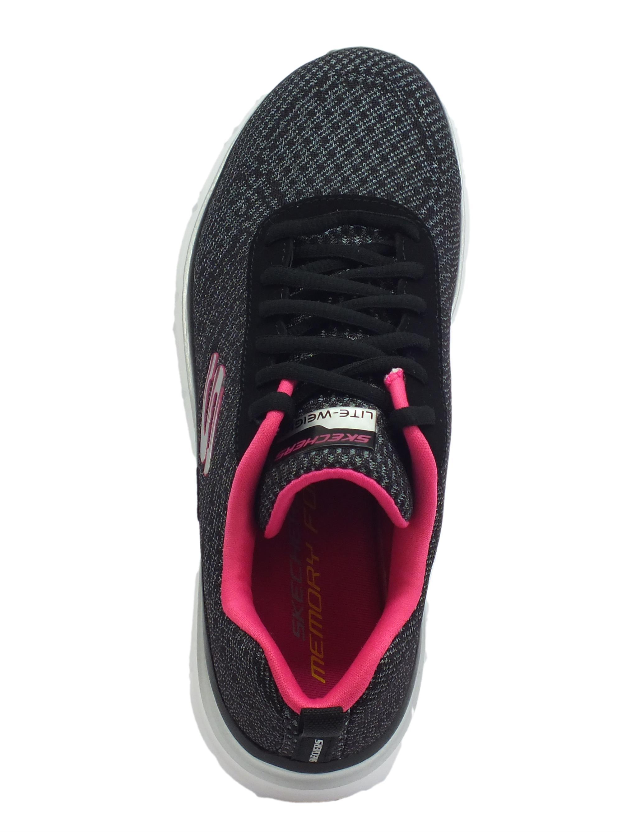fcb615c480b0a ... Skechers Fashion Fit Bold Boundaries Scarpe Sportive per donna nere e  rosa acceso