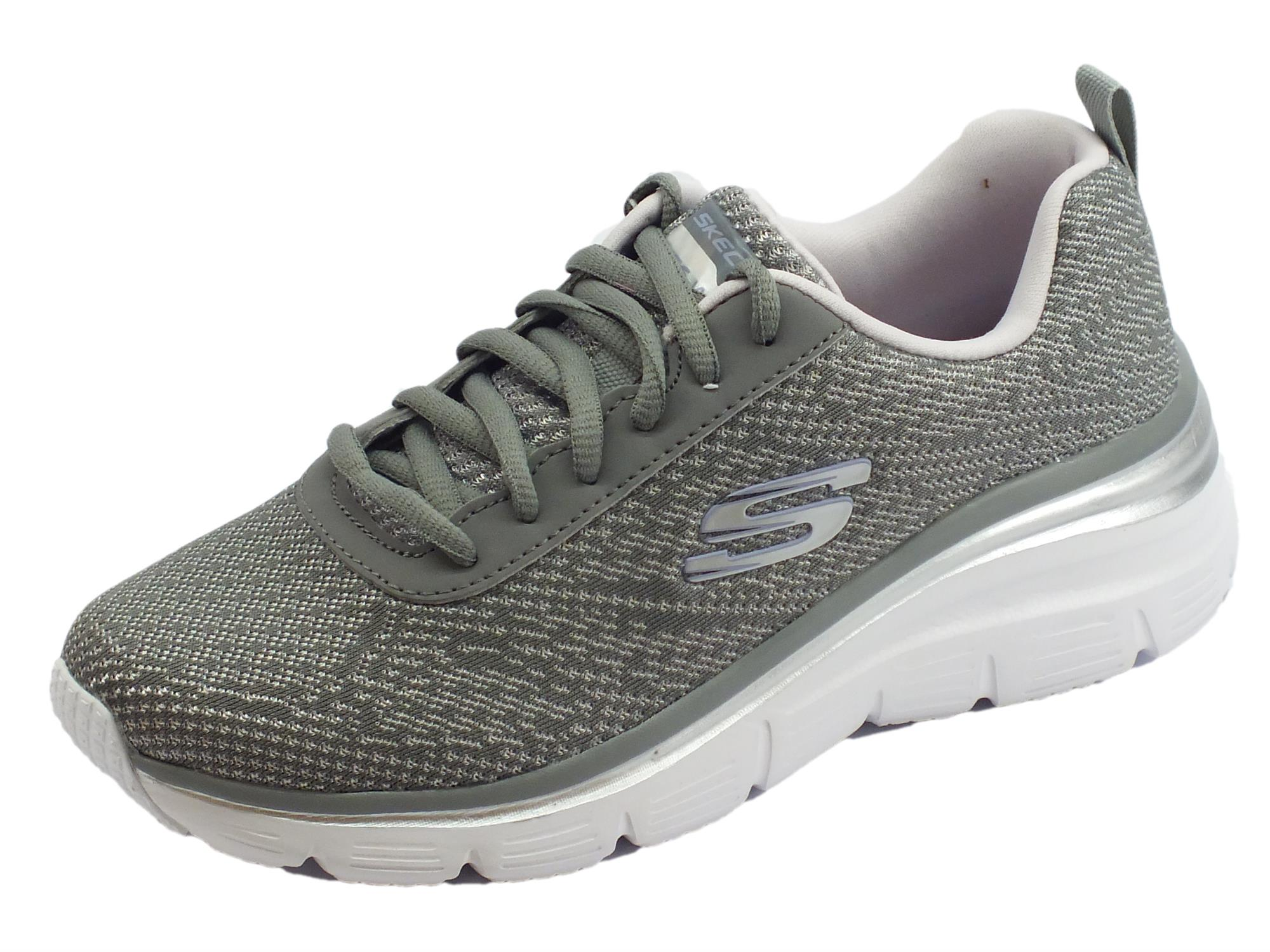 Skechers Fashion Fit Bold Boundaries Scarpe Sportive per donna grigie e  lavanda 6411085927f
