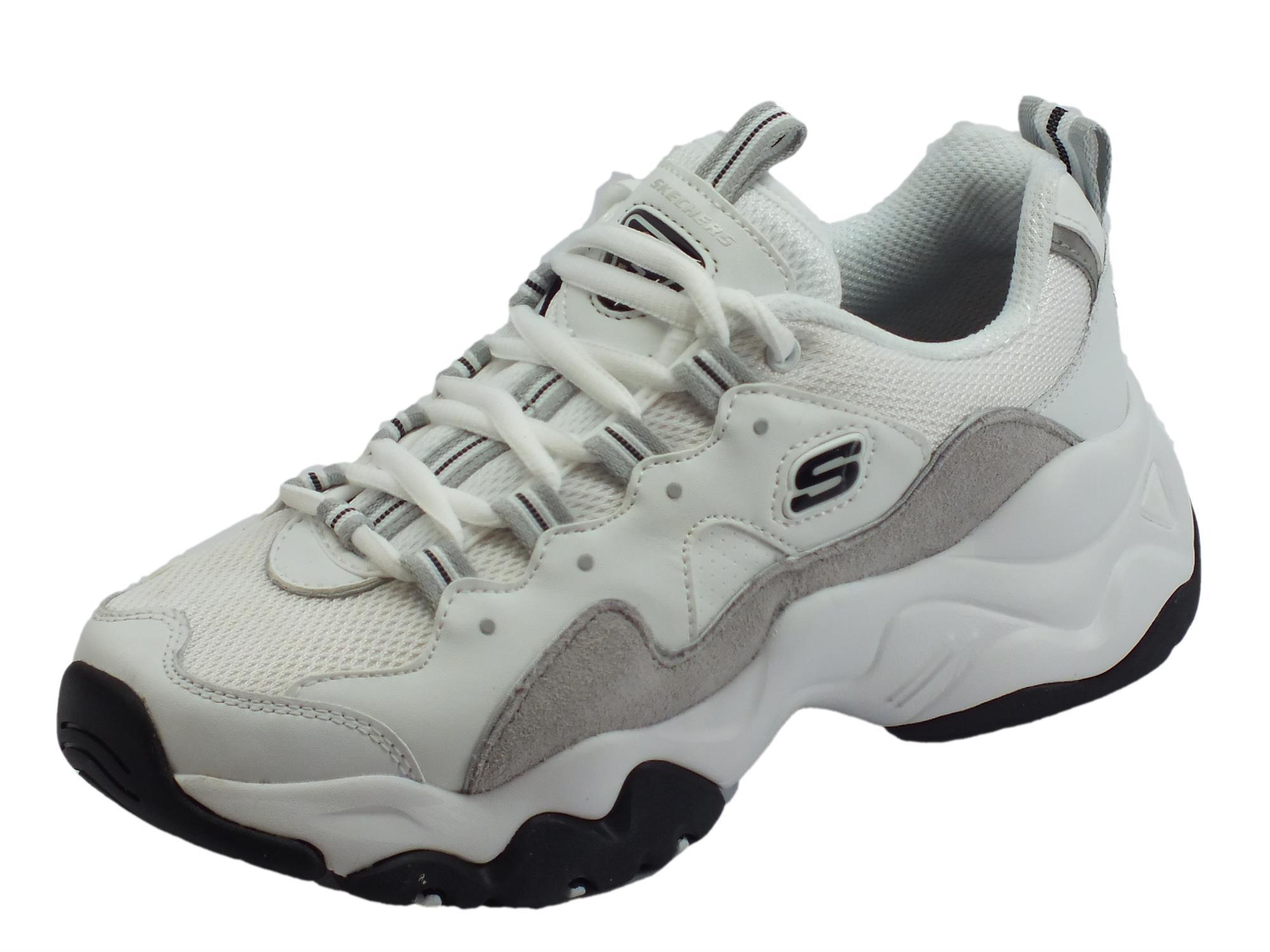 Skechers D'Lites 3.0 ZenWay Scarpe Sportive per donna bianche e grigie