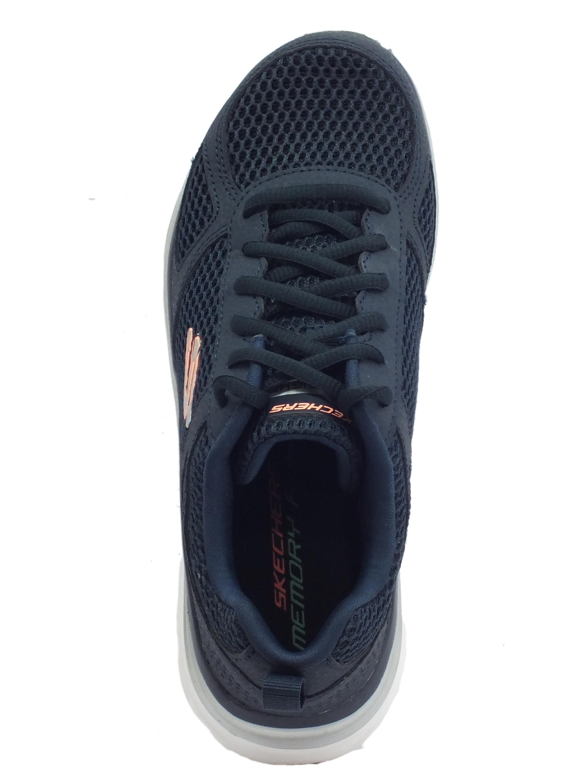 ... Skechers Fashion-fit Perfect Mate scarpe sportive per donna blu con  memory foam ef3075e5ecd