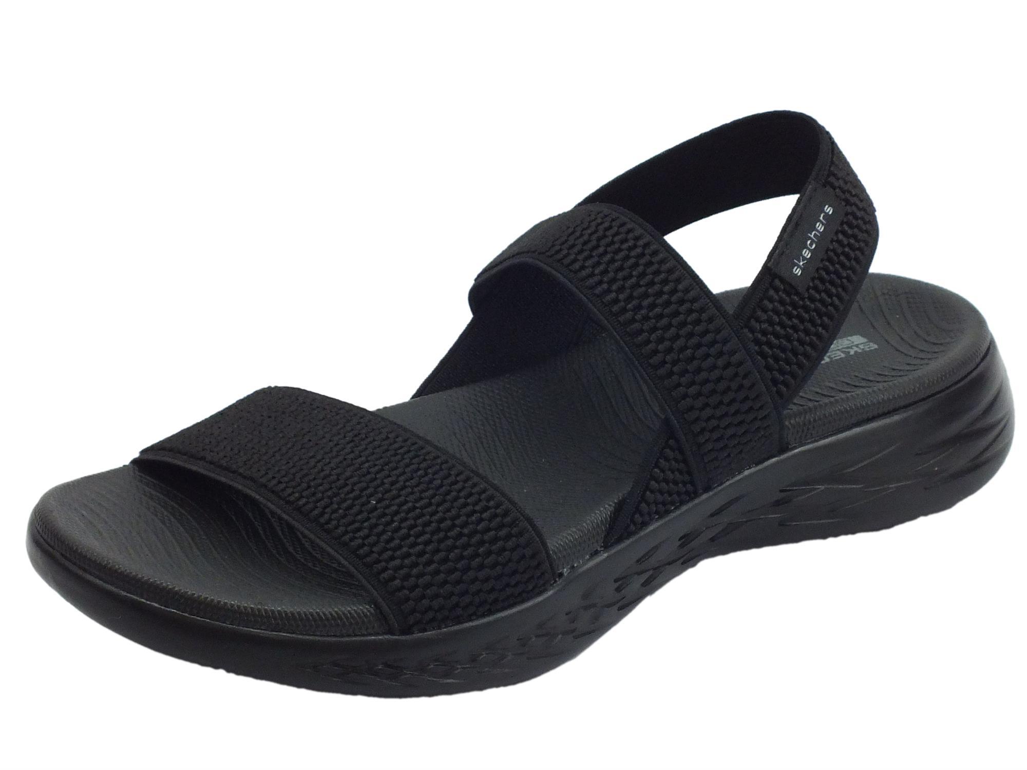Skechers Sandalo Donna Nero   Glemod