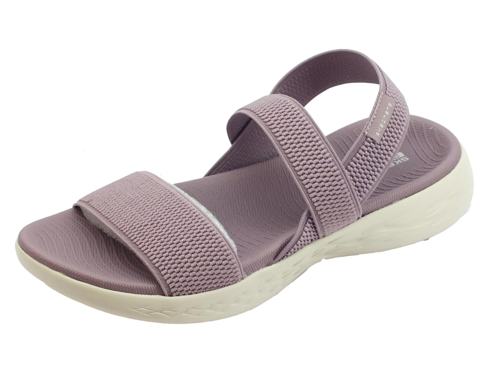 Skechers On-The-Go 600 Flawless Light Mauve sandali sportivi per donna  tessuto
