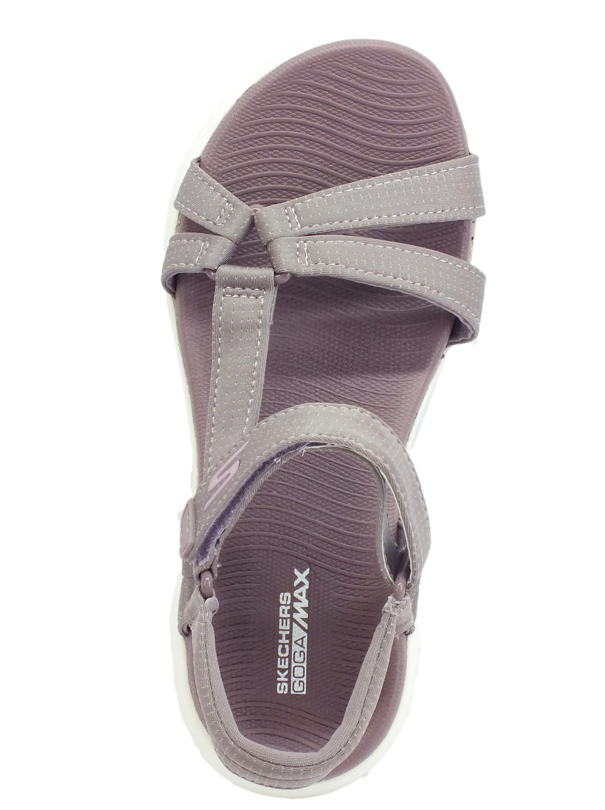 Skechers On The Go 600 Brillancy Light Mauve sandali sportivi per donna tessuto viola