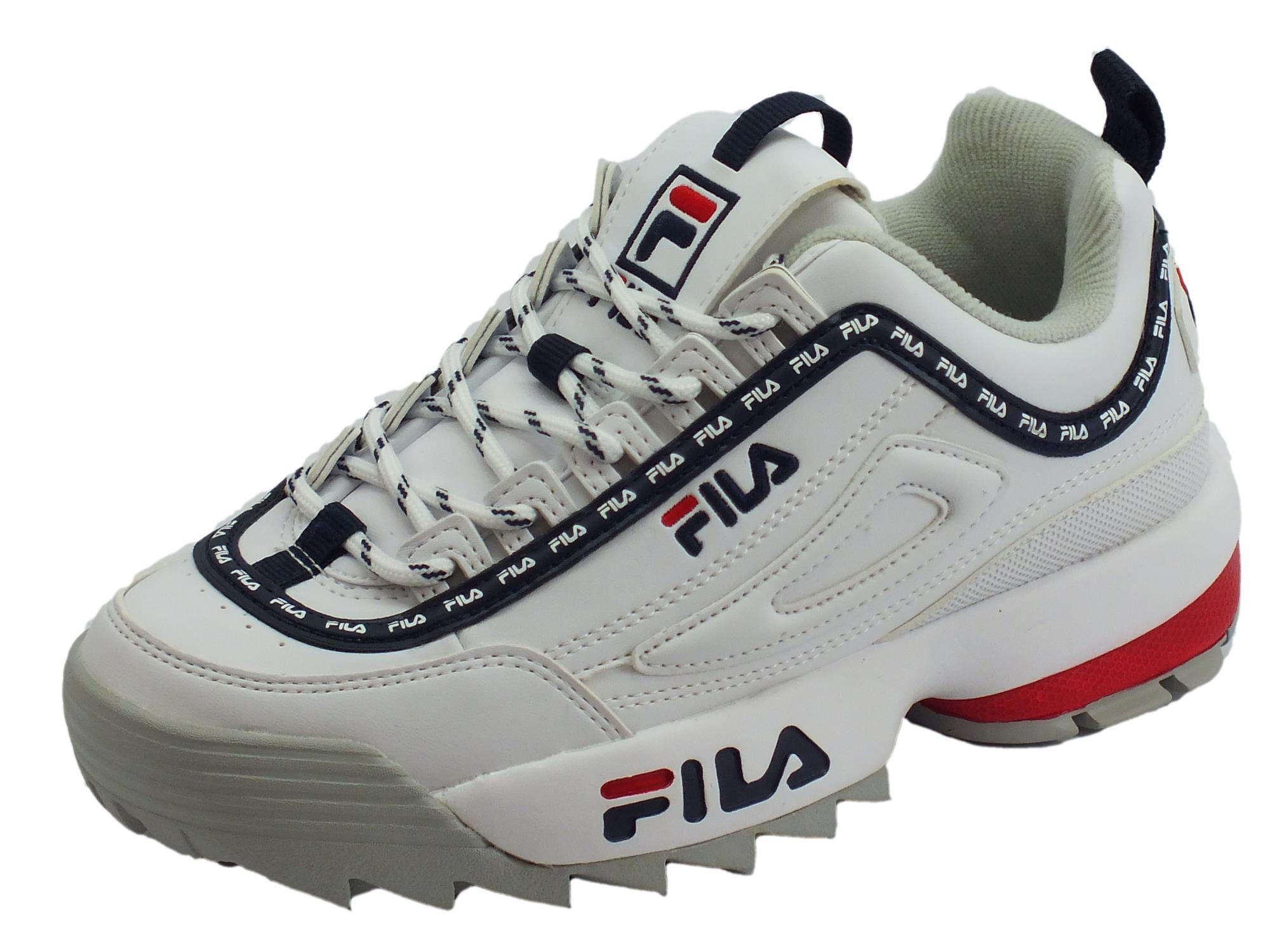 più economico 003a6 90306 Fila 1010748.1FG Disruptor Logo Low WMN White Scarpe sportive parlate per  donna in ecopelle