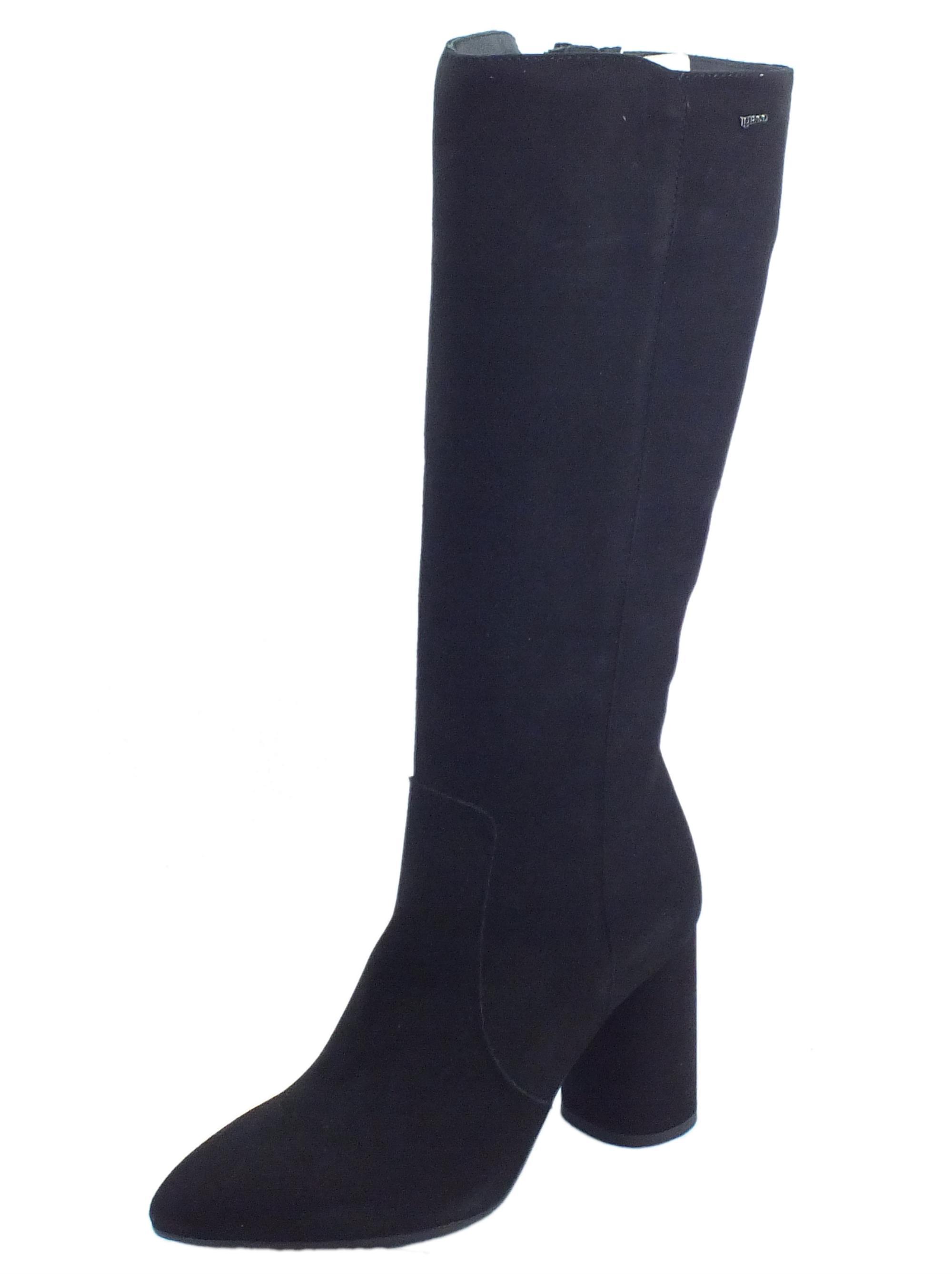 Stivali donna in camoscio