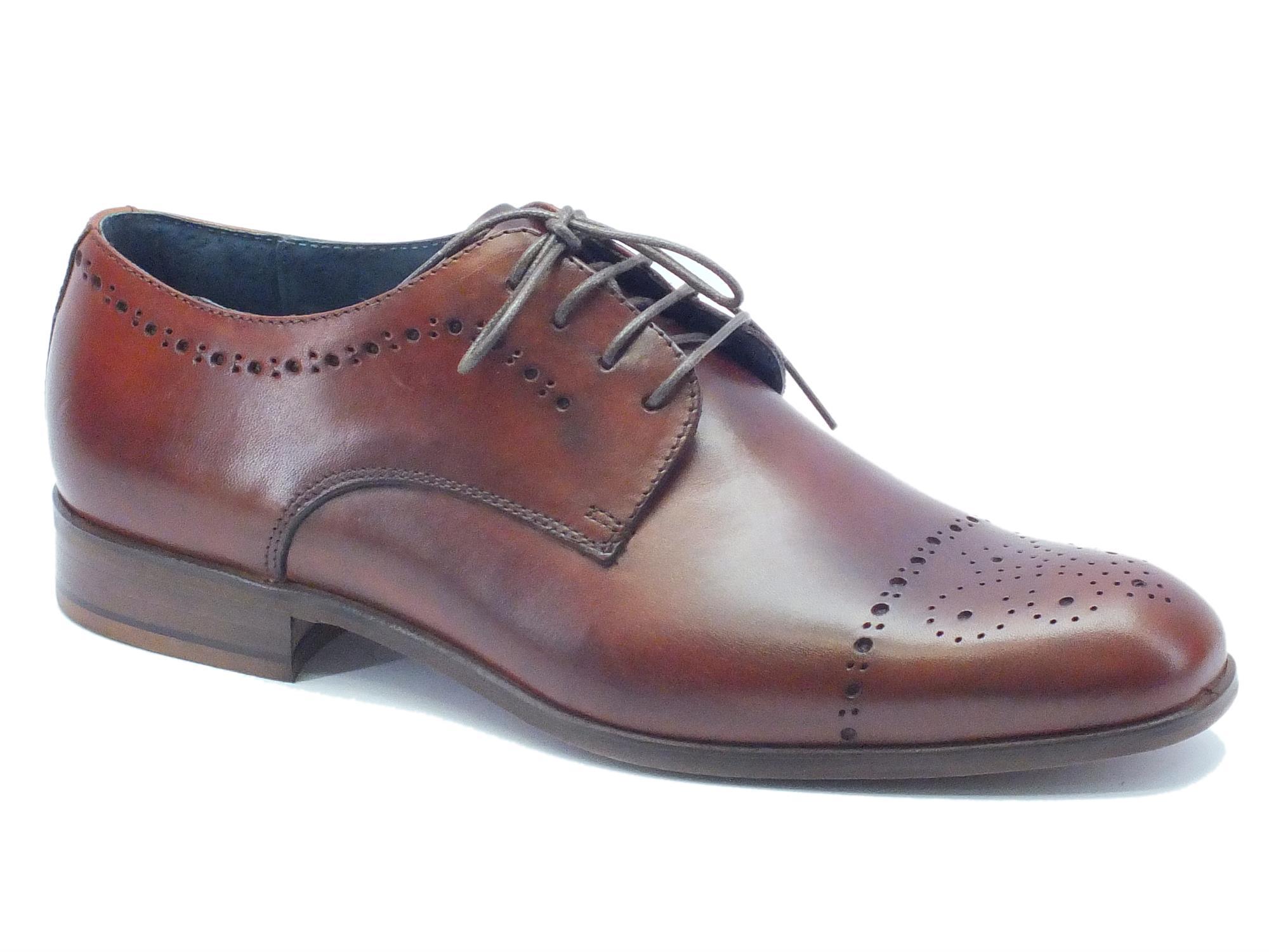 Scarpe classiche da uomo NicolaBenson pelle marrone - Vitiello Calzature 8c0ae3864a7