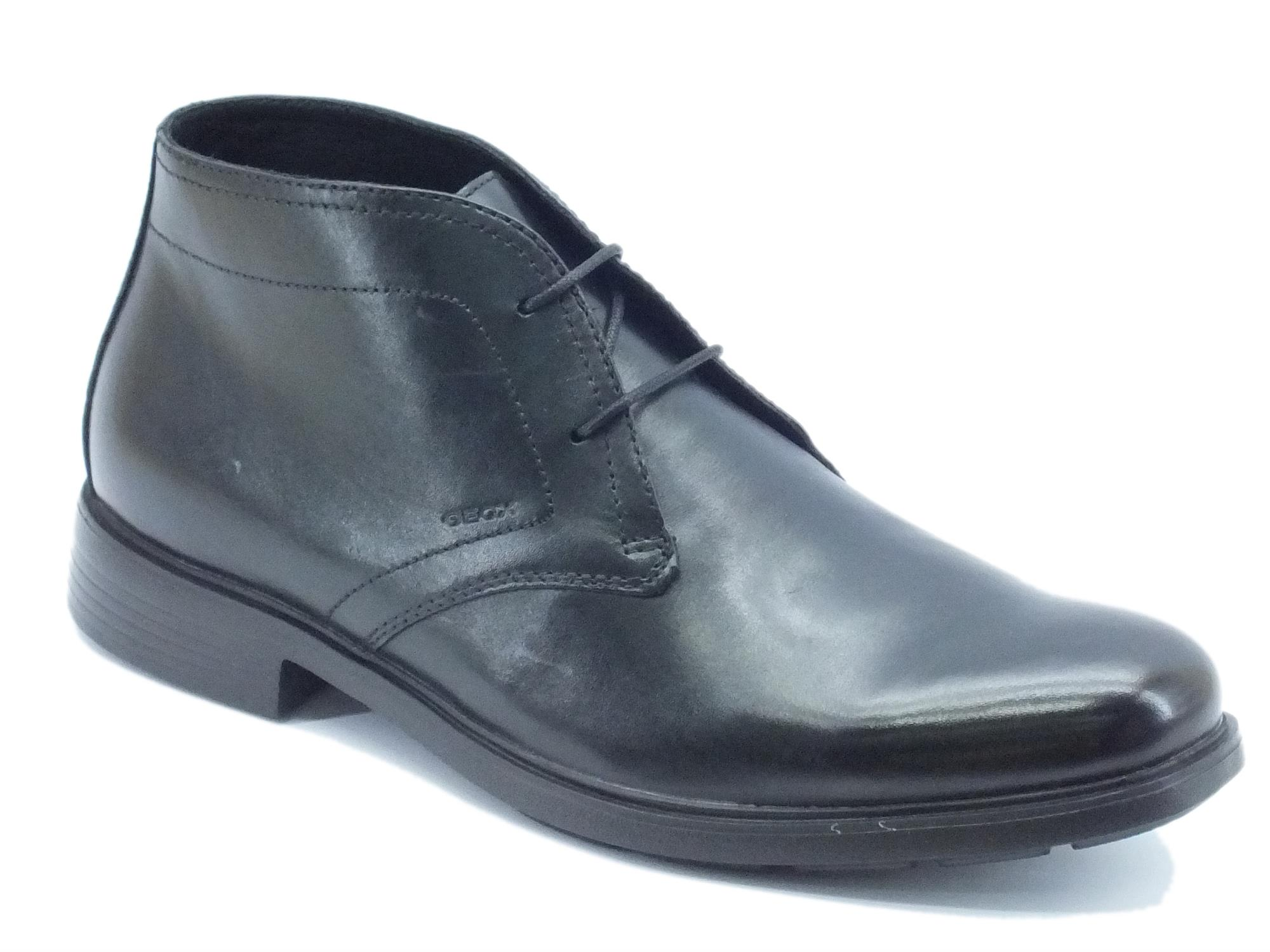 bbcc3f840c6dbd Scarpe uomo Geox modello classico pelle nera - Vitiello Calzature