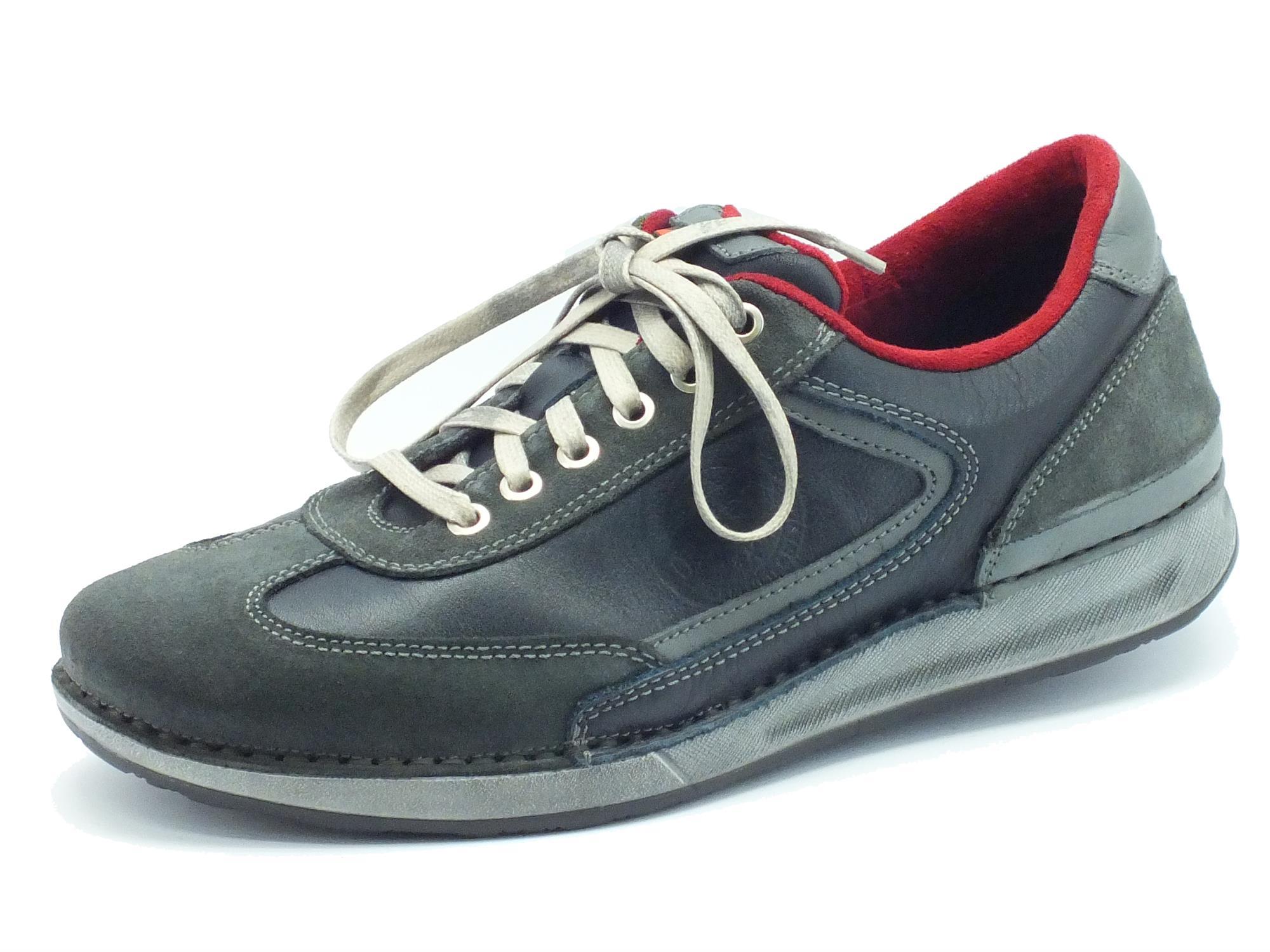 Scarpe Zen modello sportivo pelle blu grigia - Vitiello Calzature 42d8a334a6a