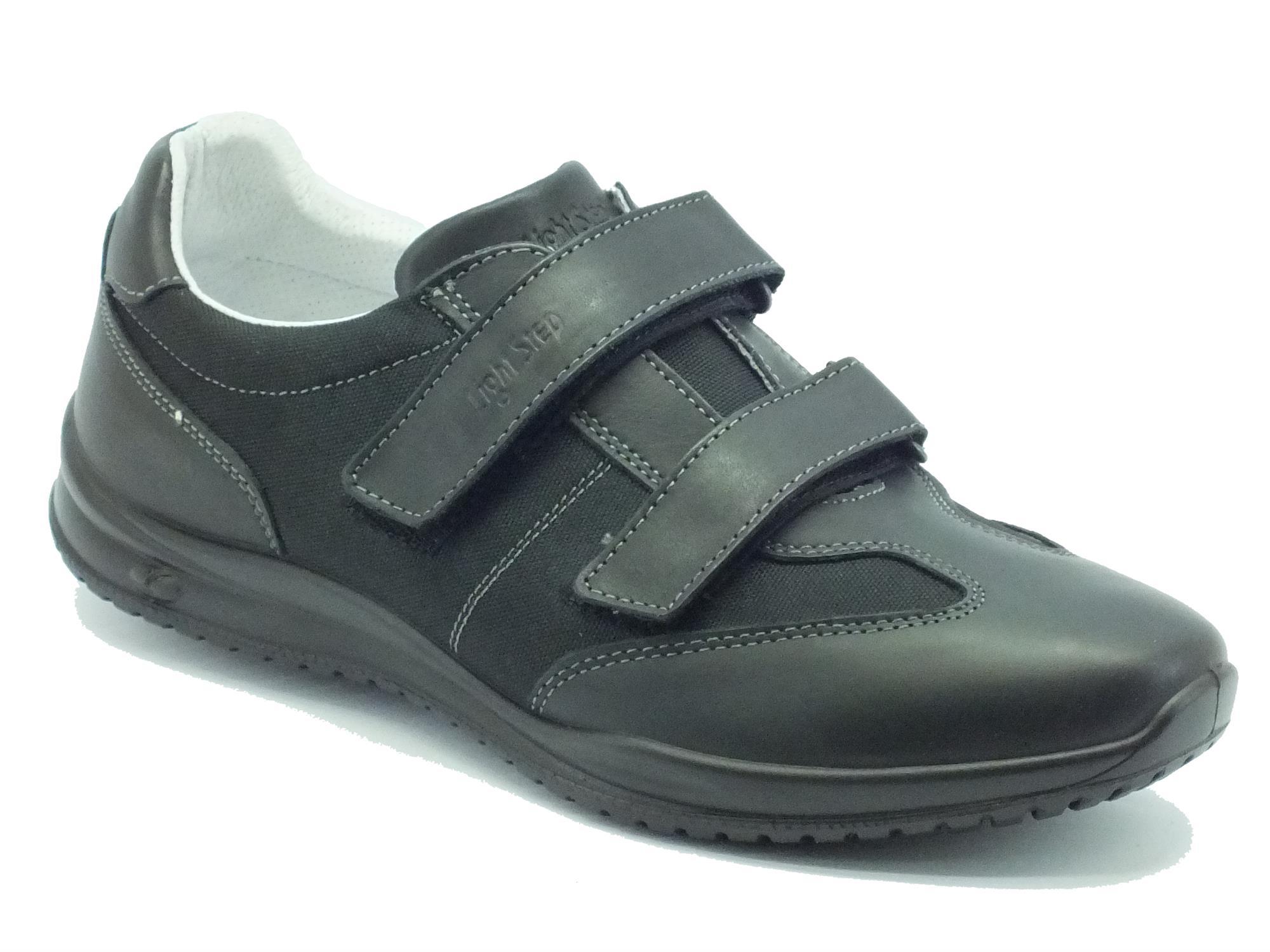 Scarpe Grisport Light Step pelle nera doppio strappo - Vitiello ... f601bbe88ac