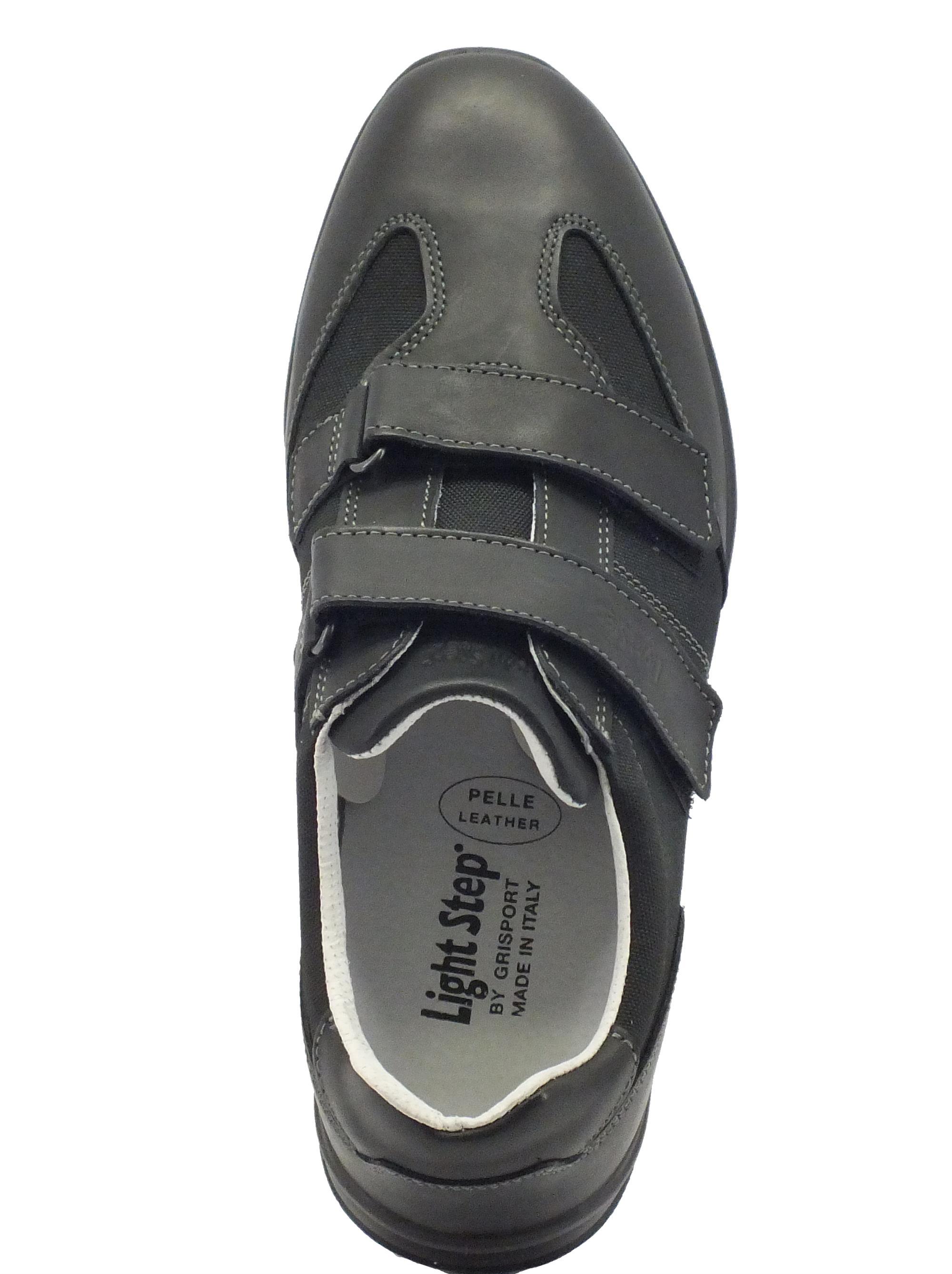 Scarpe Grisport Light Step pelle nera doppio strappo - Vitiello ... 386fb5a228f