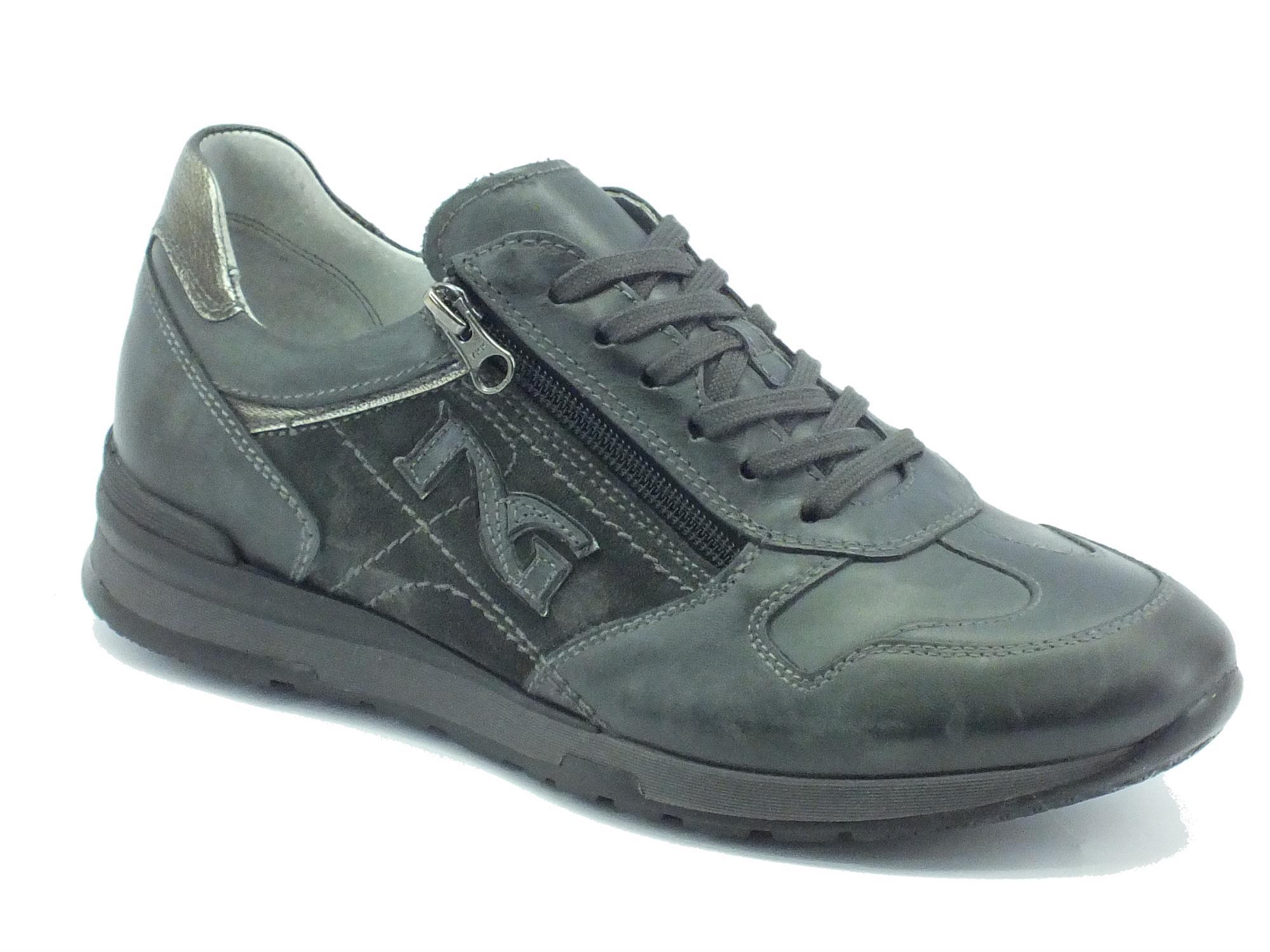 Scarpe sportive NeroGiardini uomo pelle antracite - Vitiello Calzature 046c213c0bf