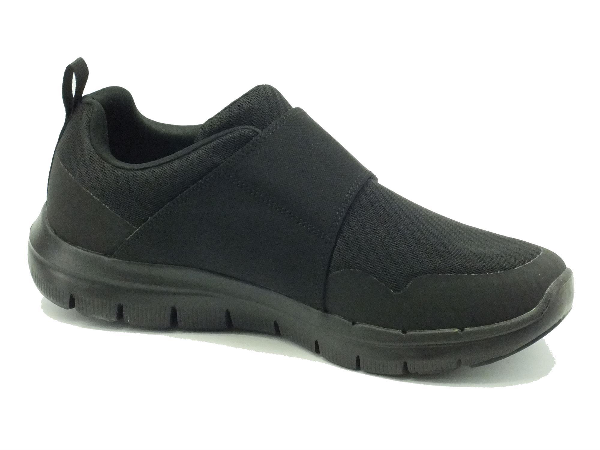 ... Scarpe Skechers Air-Cooled per uomo in tessuto nero chiusura a strappo  ... 19da8f50077