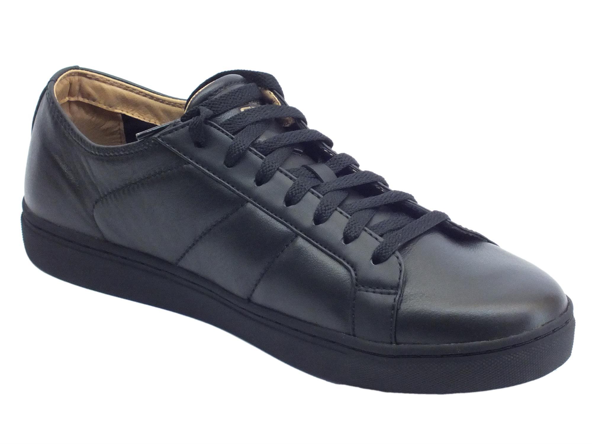 ... Scarpe per uomo Skechers Street Los Angeles in pelle nera con memory  foam ... 2a9b99bd0c4
