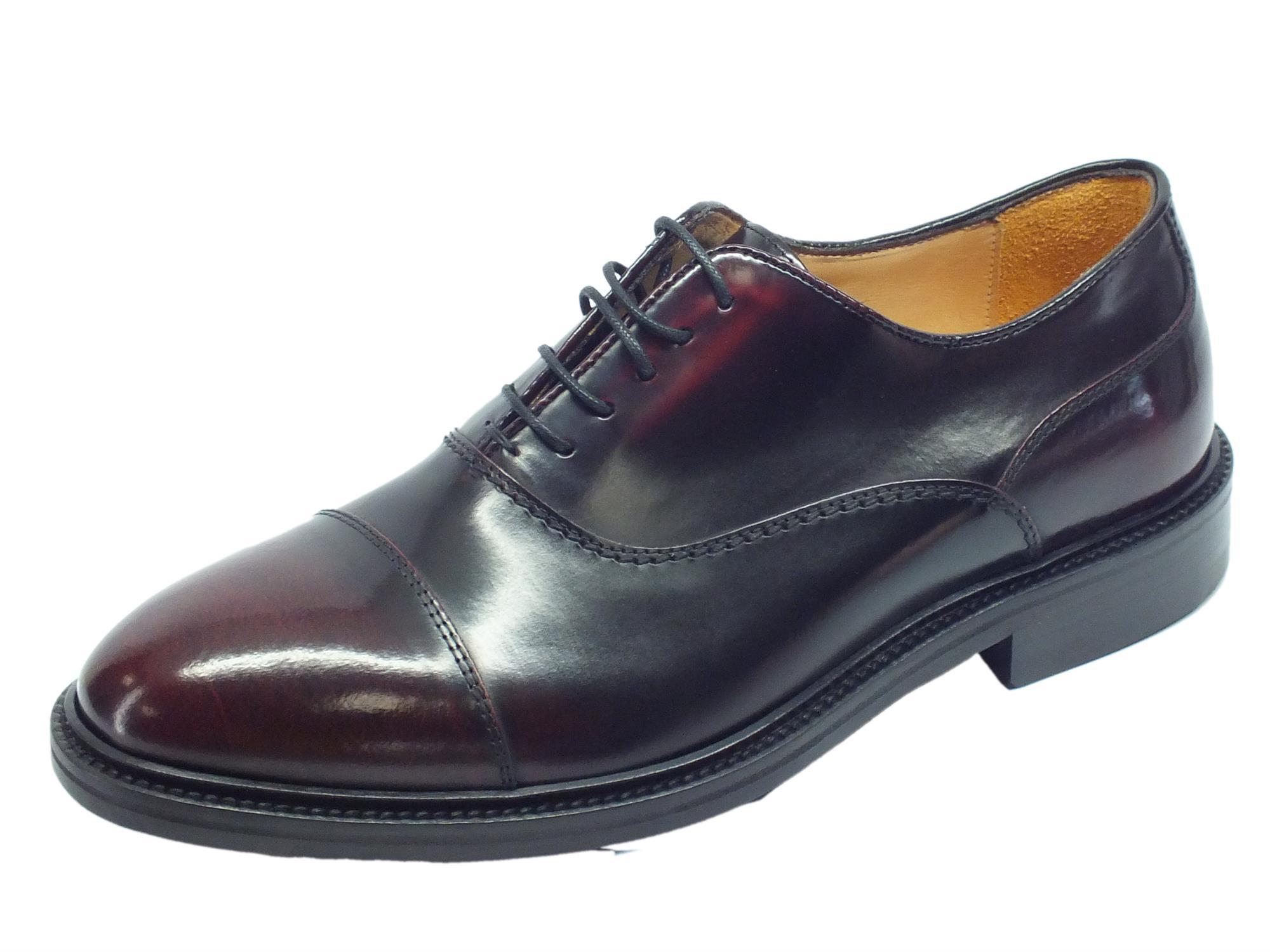 Scarpe Eleganti Mercanti Fiorentini in pelle abrasivata spazzolata bordò 8f5fa76a33e