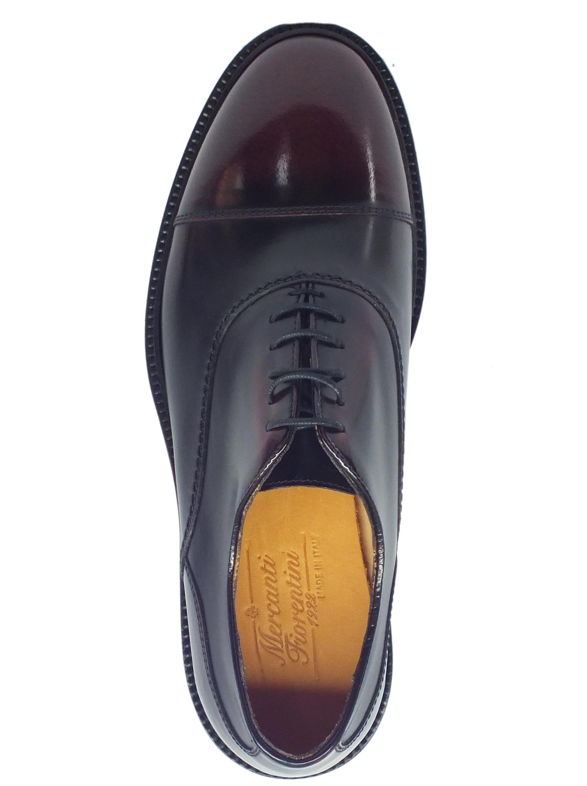 43e9177f3f6 ... Scarpe Eleganti Mercanti Fiorentini in pelle abrasivata spazzolata bordò